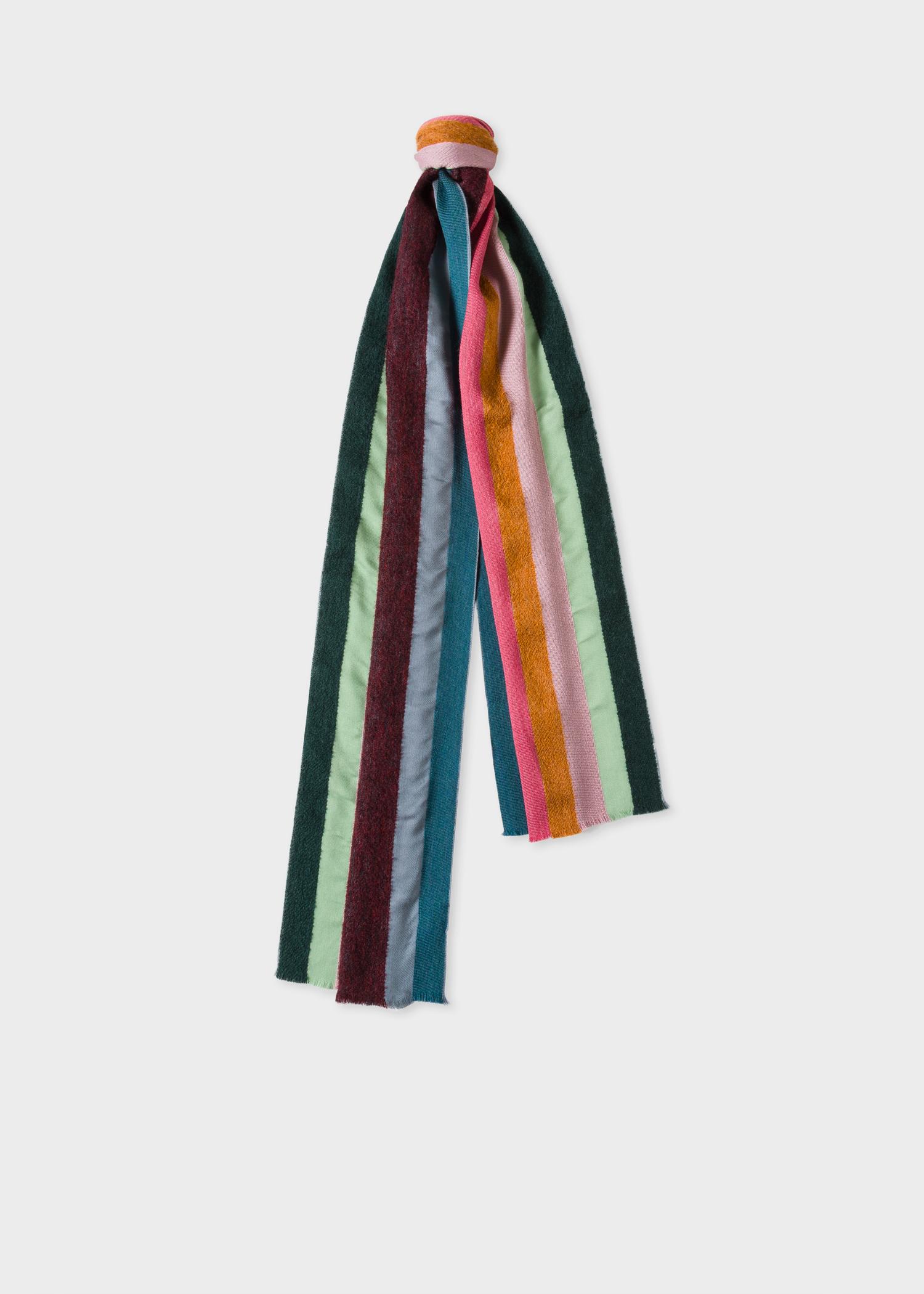 00710a6487ee Men's Textured 'Artist Stripe' Silk-Blend Scarf - Paul Smith US