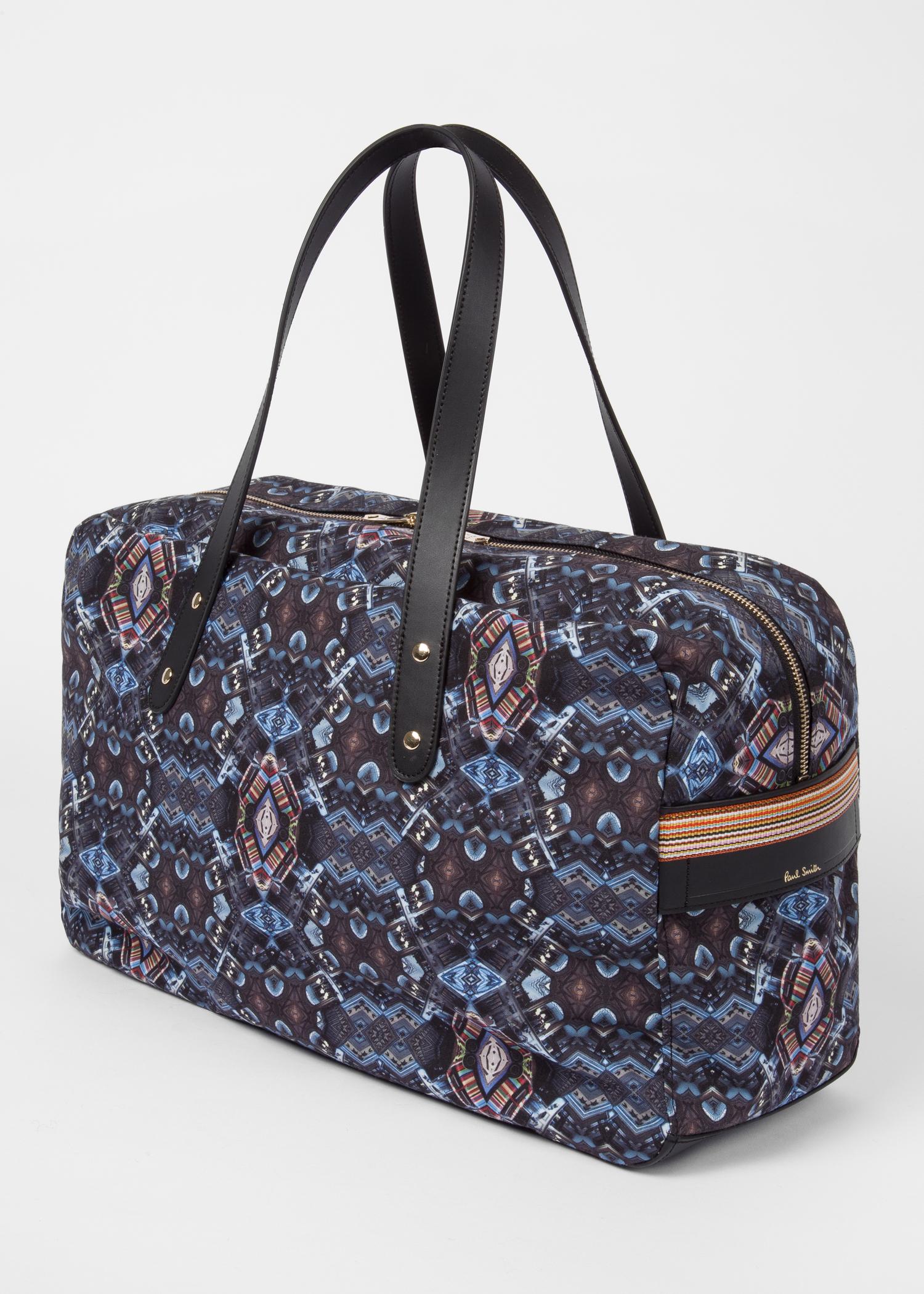 Men's Black 'Mini Kaleidoscope' Print Weekend Bag