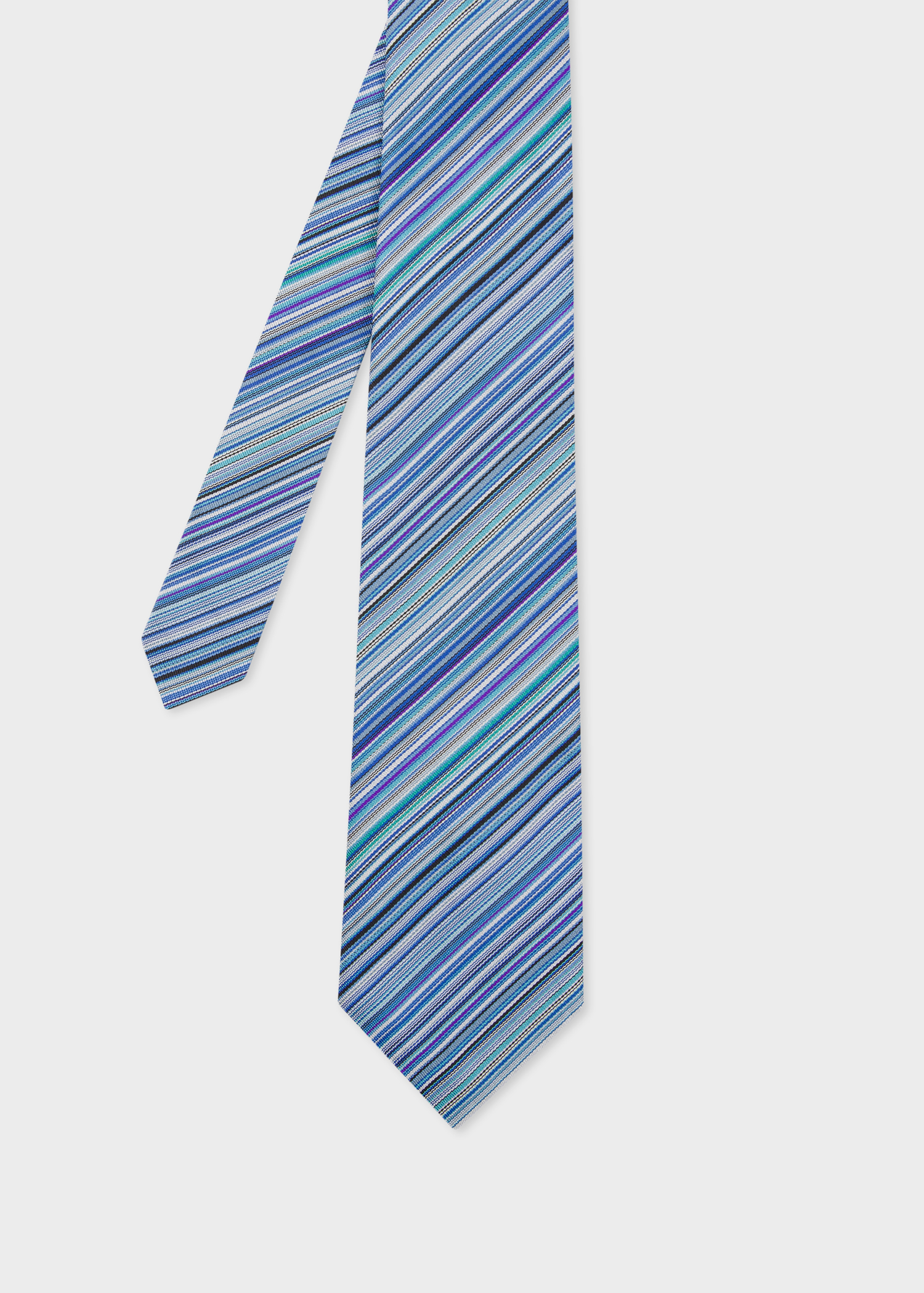 b82c6a68 Men's Blue Signature Stripe Silk Tie