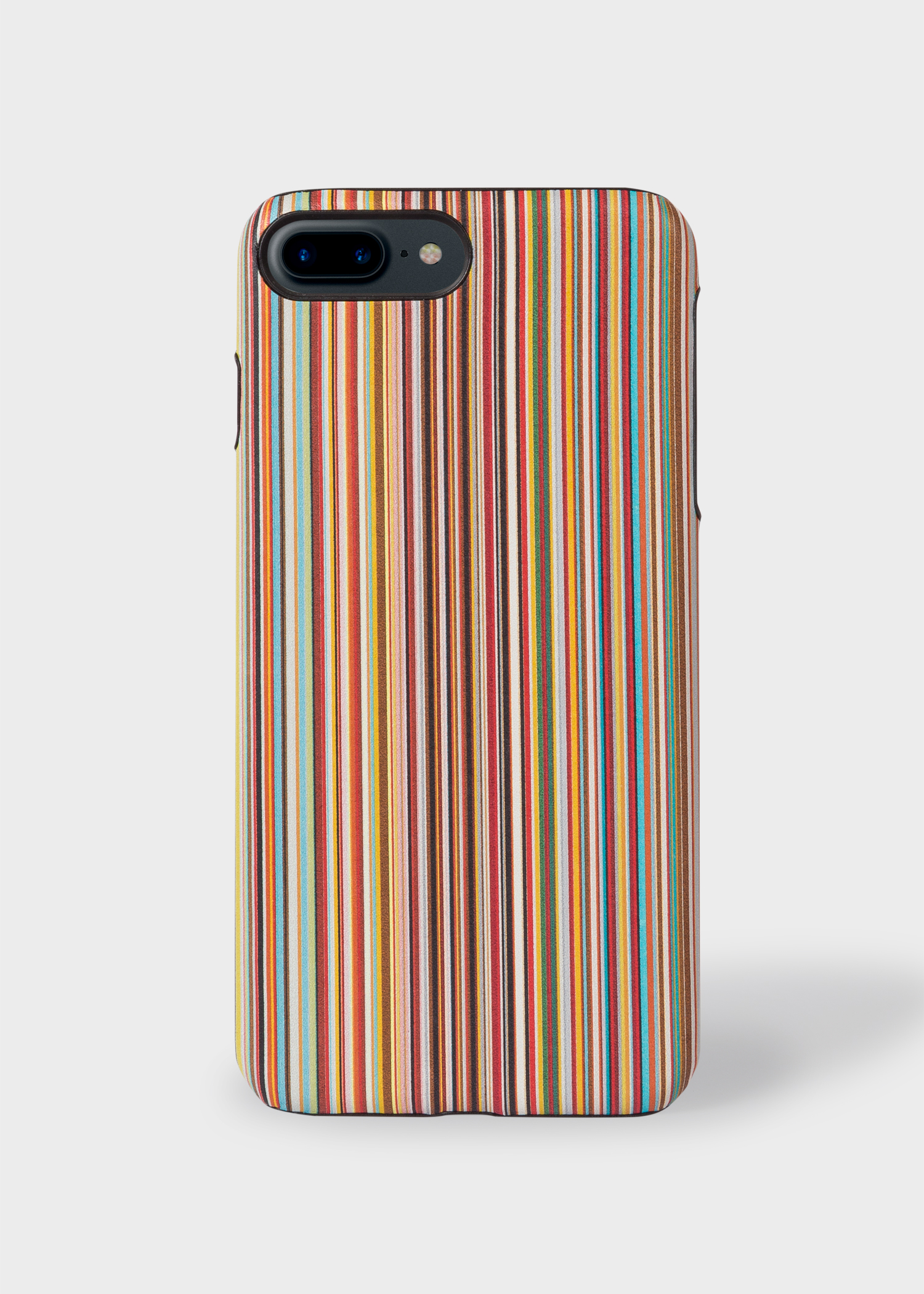 fb000b7419 Back view - 'Signature Stripe' Leather iPhone 7/8 Plus Case Paul Smith