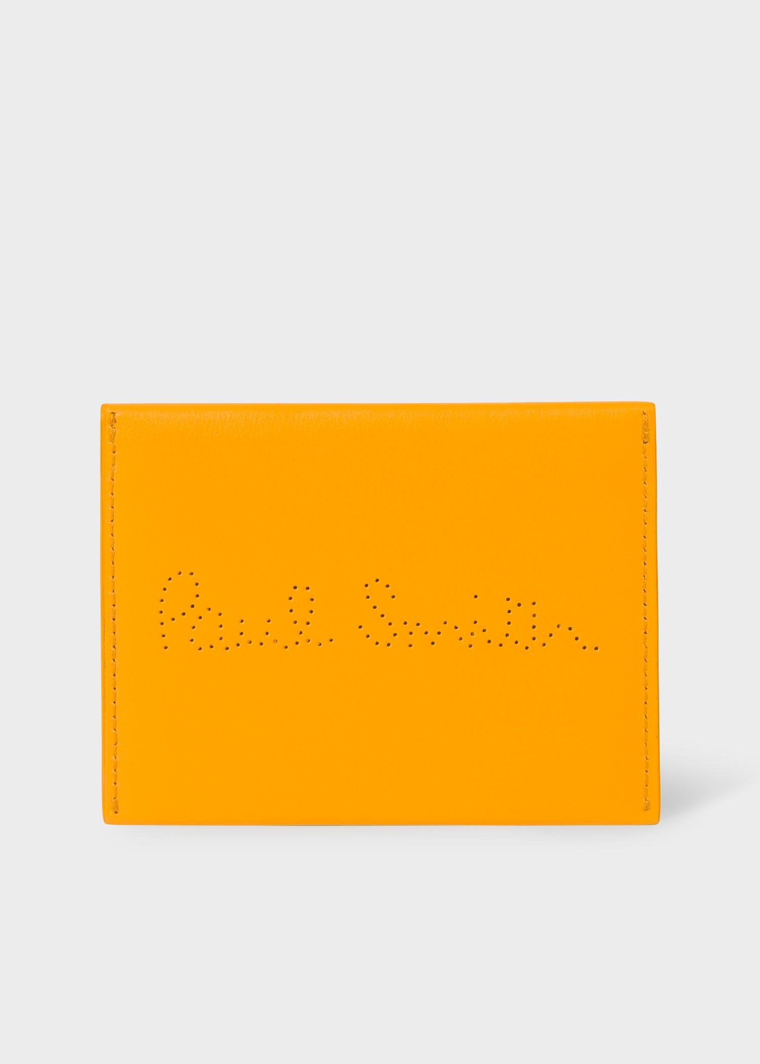 Men's Mustard Leather Receipt Holder