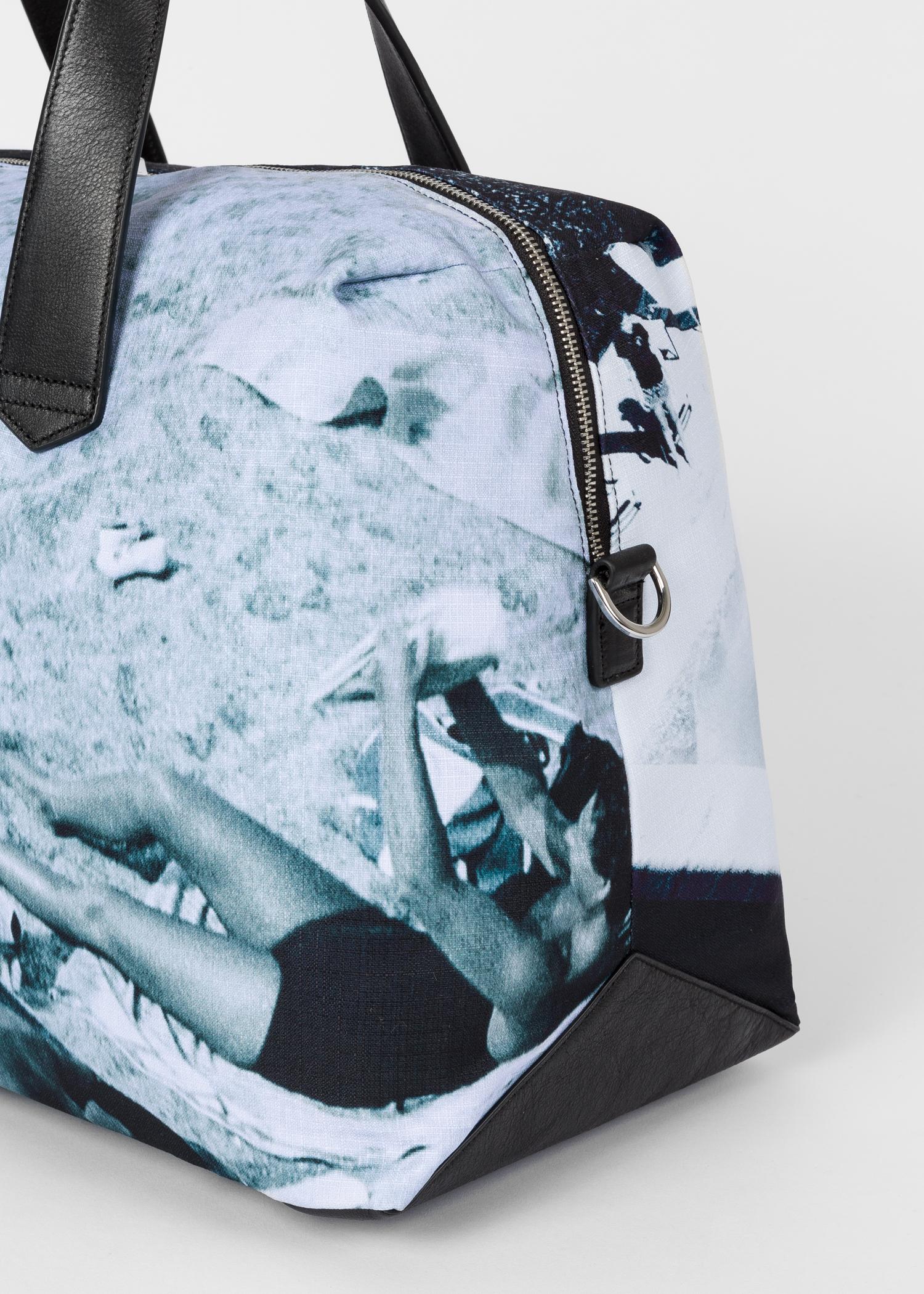 31fb01f4f Detail view - Men's Blue 'Paul's Photo' Print Canvas Weekend Bag Paul Smith