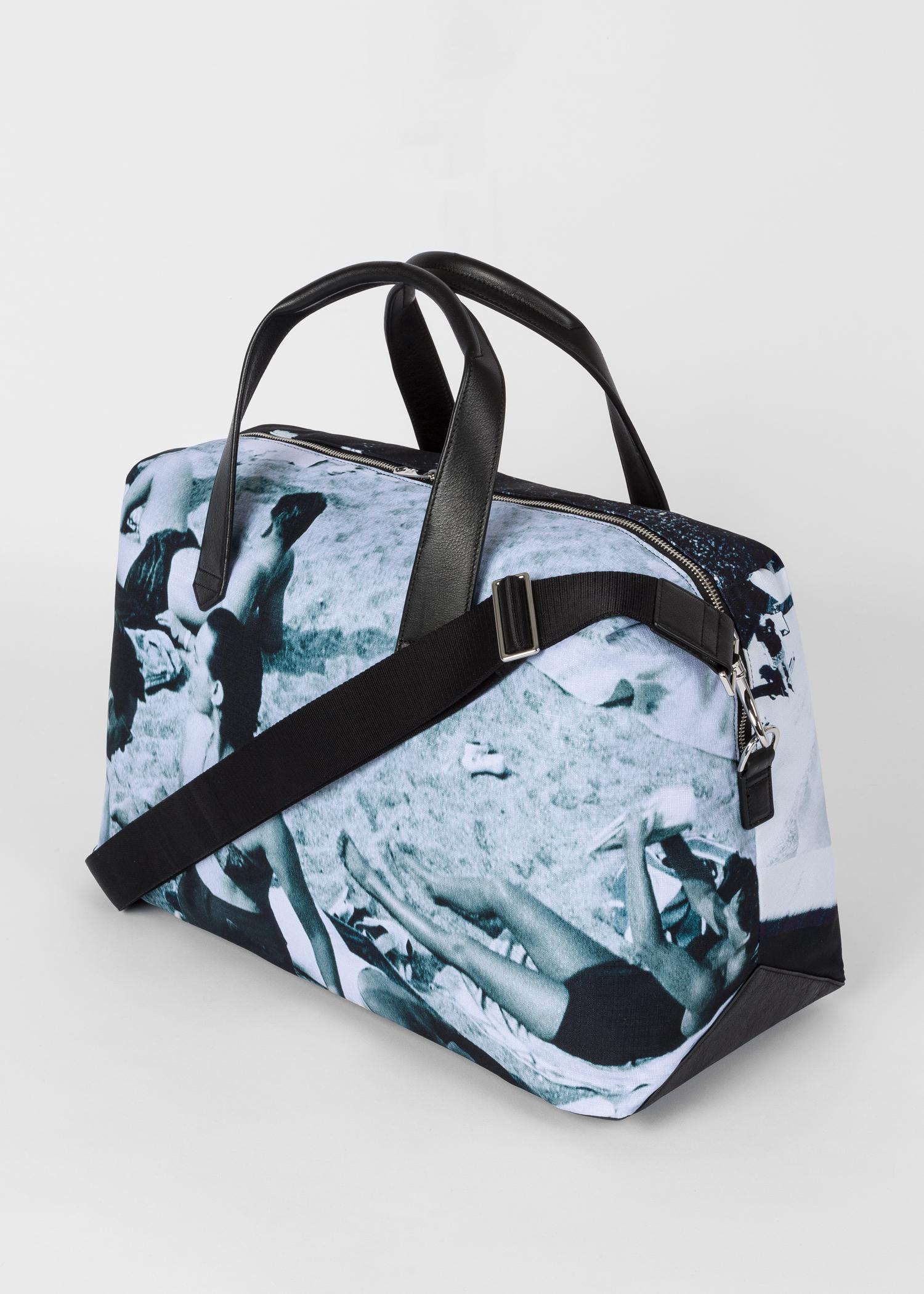 70dfe590a Strap detail - Men's Blue 'Paul's Photo' Print Canvas Weekend Bag Paul Smith