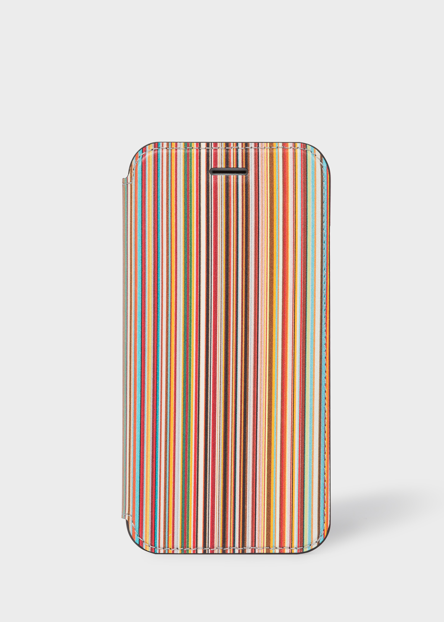 low priced 50550 c3921 'Signature Stripe' Leather iPhone 6/6S/7/8 Wallet Case
