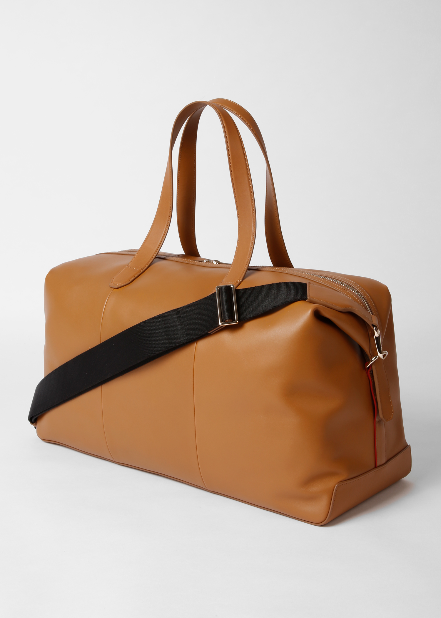 97ef29fd51d Back View - Men's Tan Soft Leather Weekend Bag Paul Smith