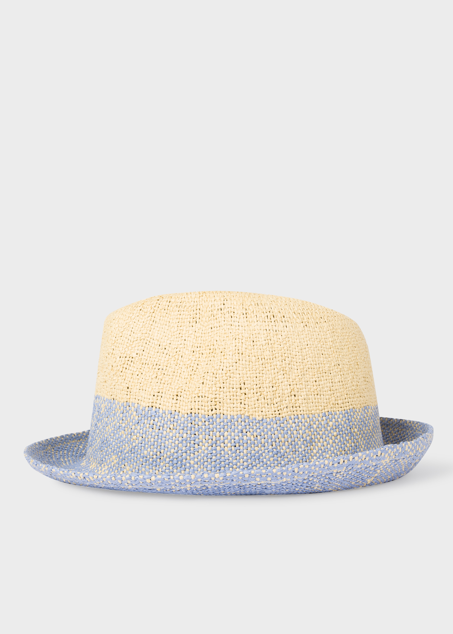 ade6694952057 Side view - Men s Blue Two Tone Trilby Hat Paul Smith