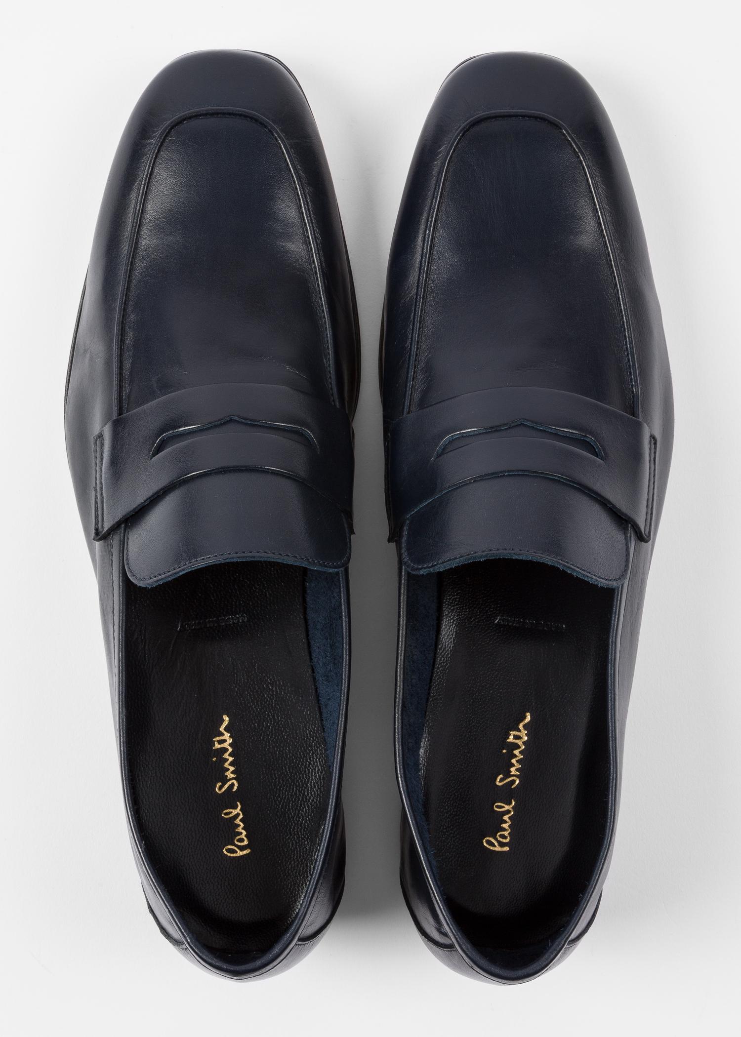 2375798d8cd Men s Dark Navy Leather  Glynn  Penny Loafers - Paul Smith Hong Kong