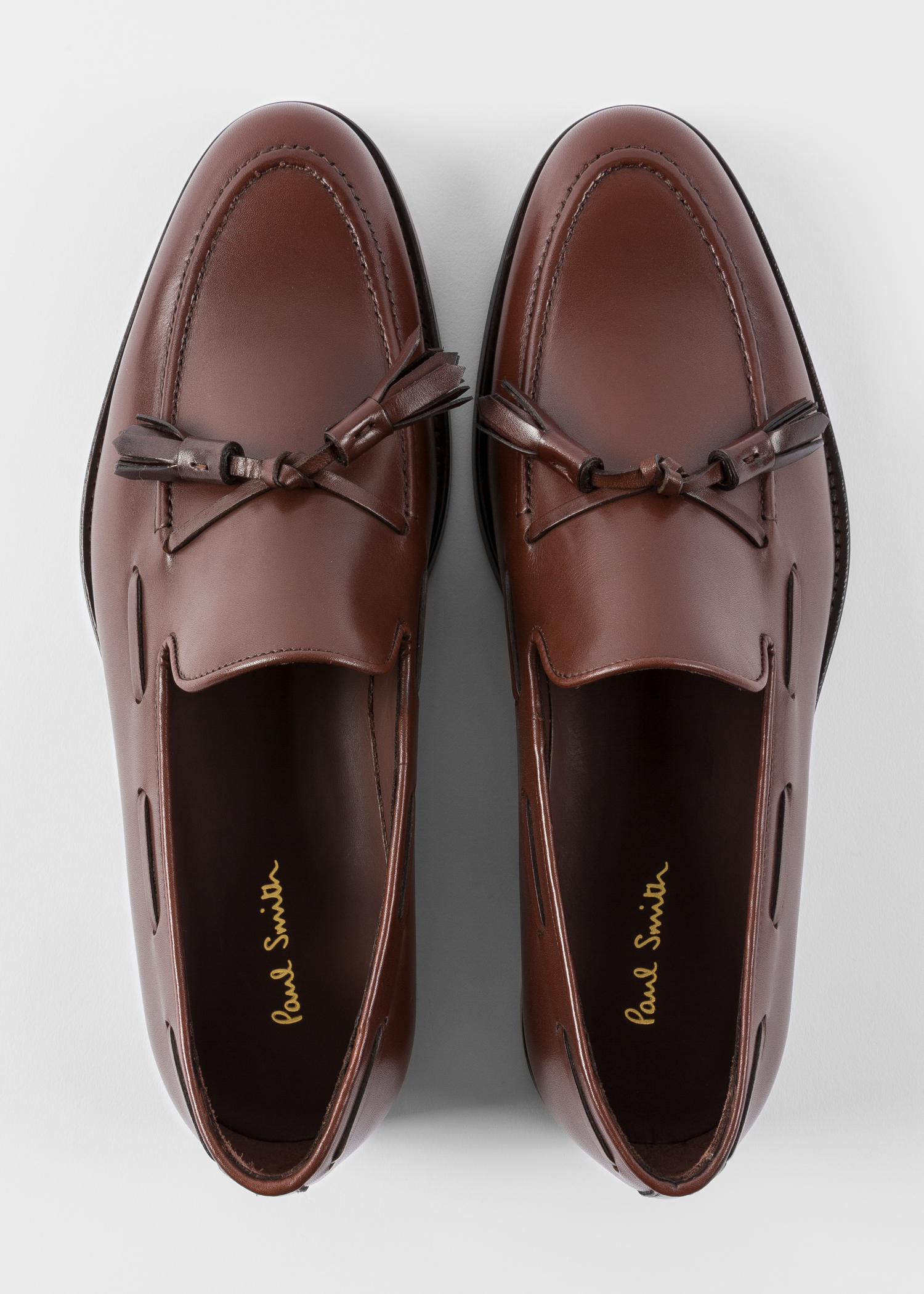 84a2ab6fbfa Front view - Men s Dark Brown Leather  Larry  Tasseled Loafers Paul Smith