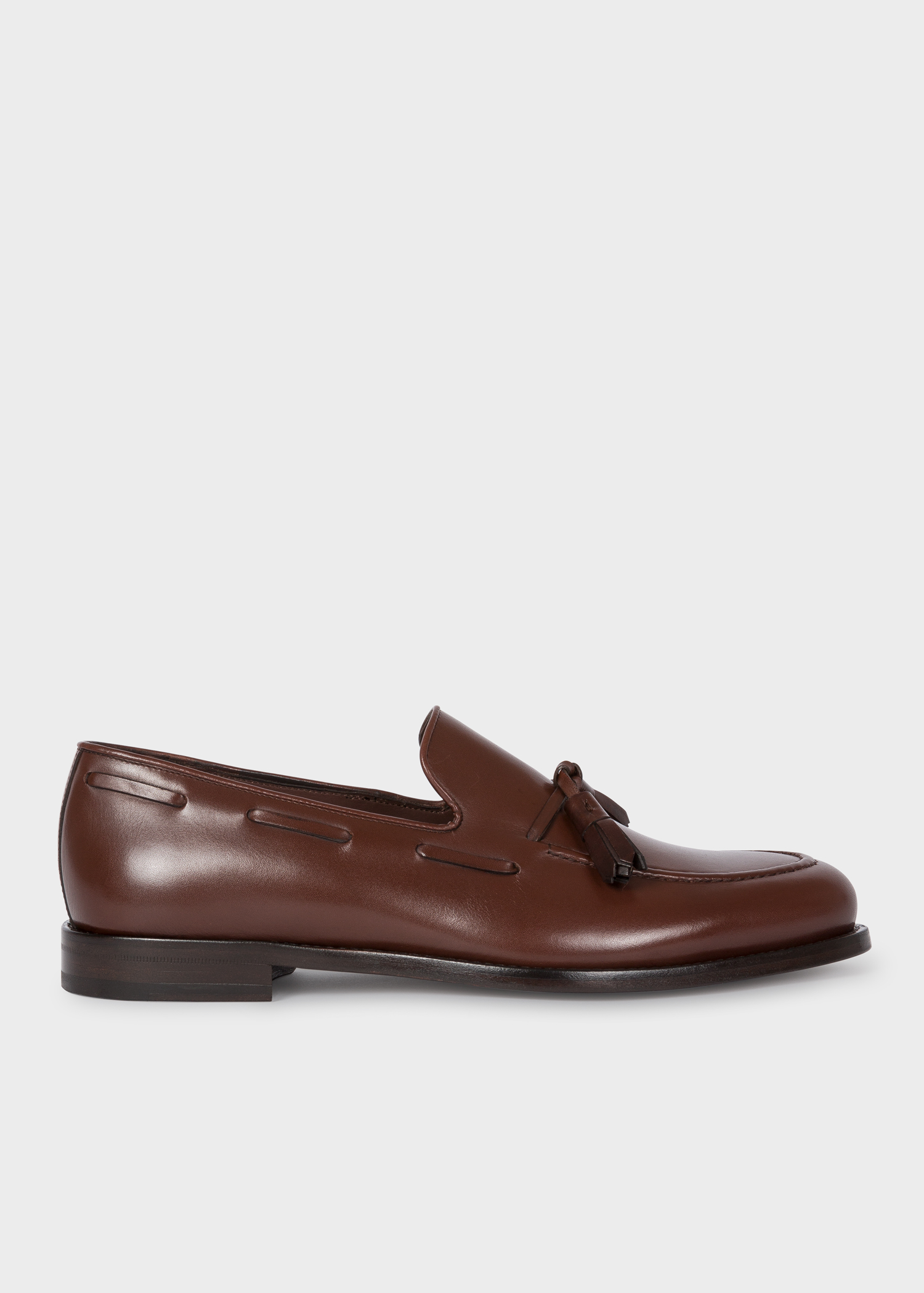 004d1f4bb81 Side view - Men s Dark Brown Leather  Larry  Tasseled Loafers Paul Smith
