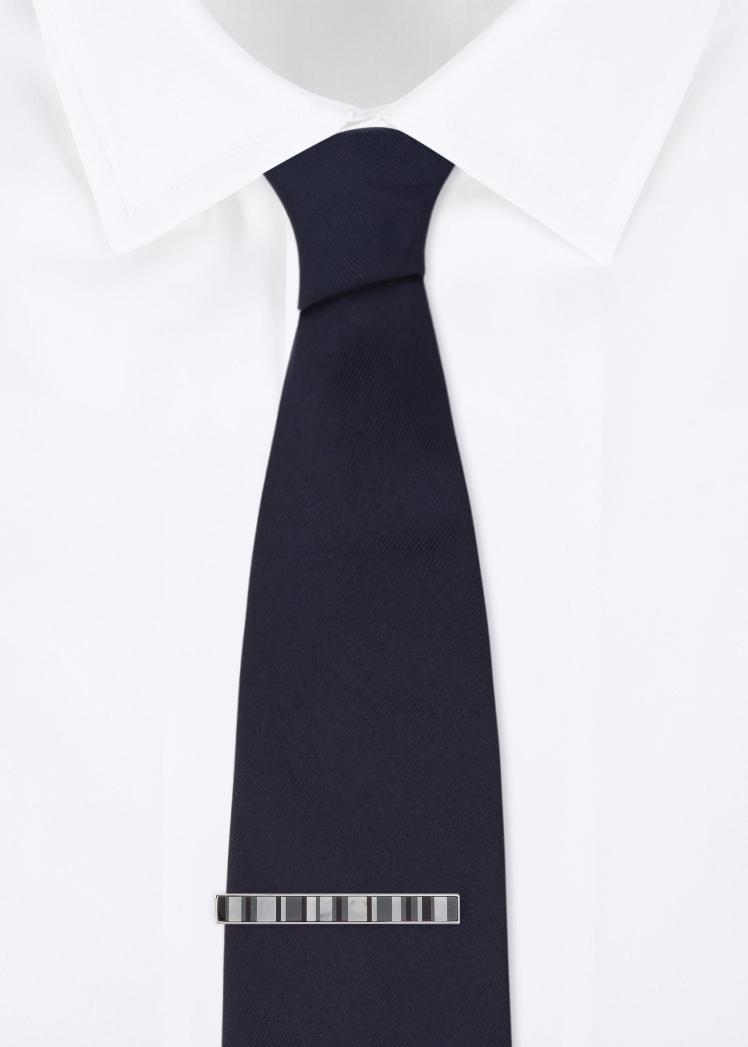 e6ea1ce75907 Men's Black Stripe Mother-Of-Pearl Tie Clip - Paul Smith US