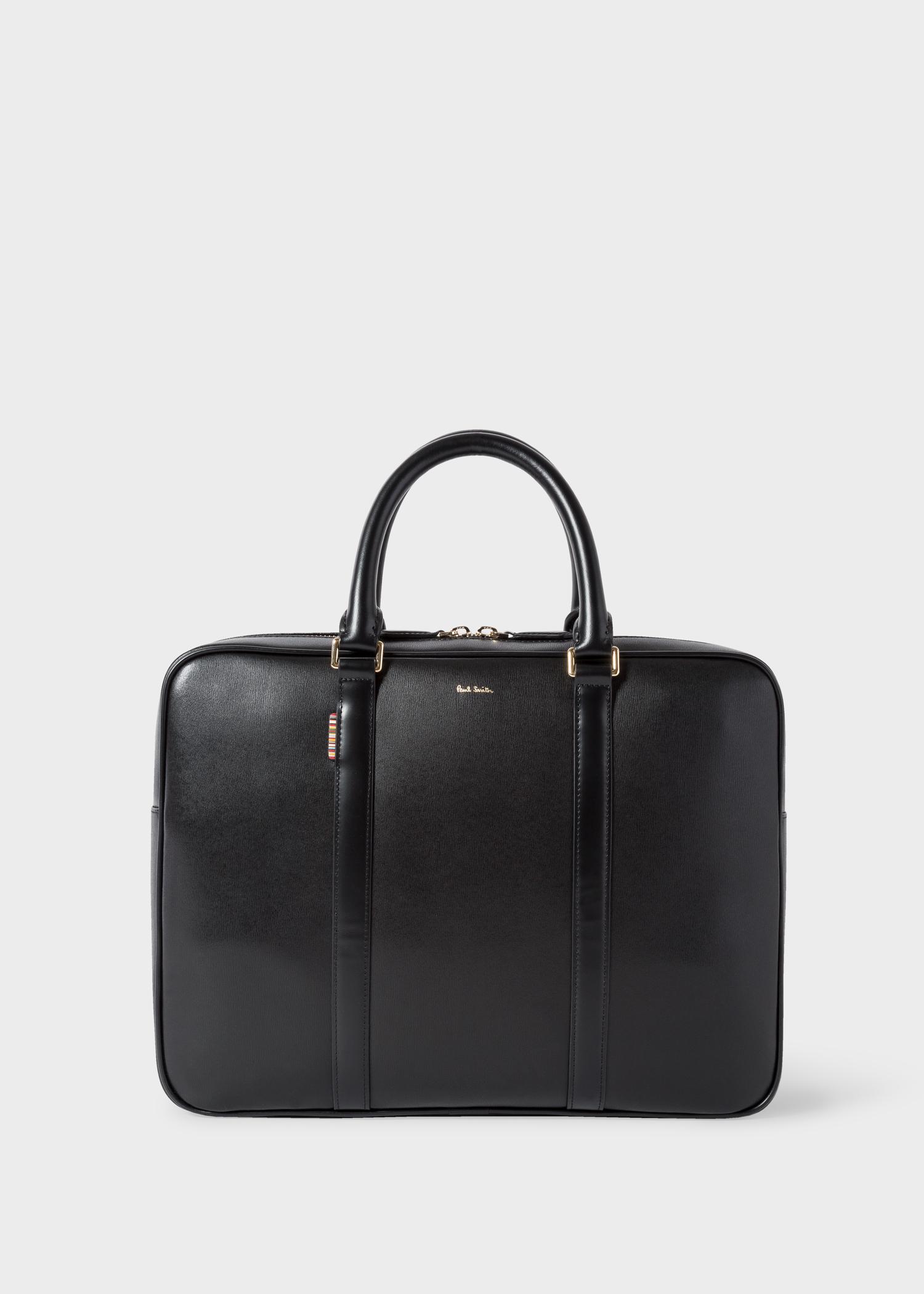 e5fd558f3 Men's 'New City' Leather Slim Black Business Folio - Paul Smith Asia