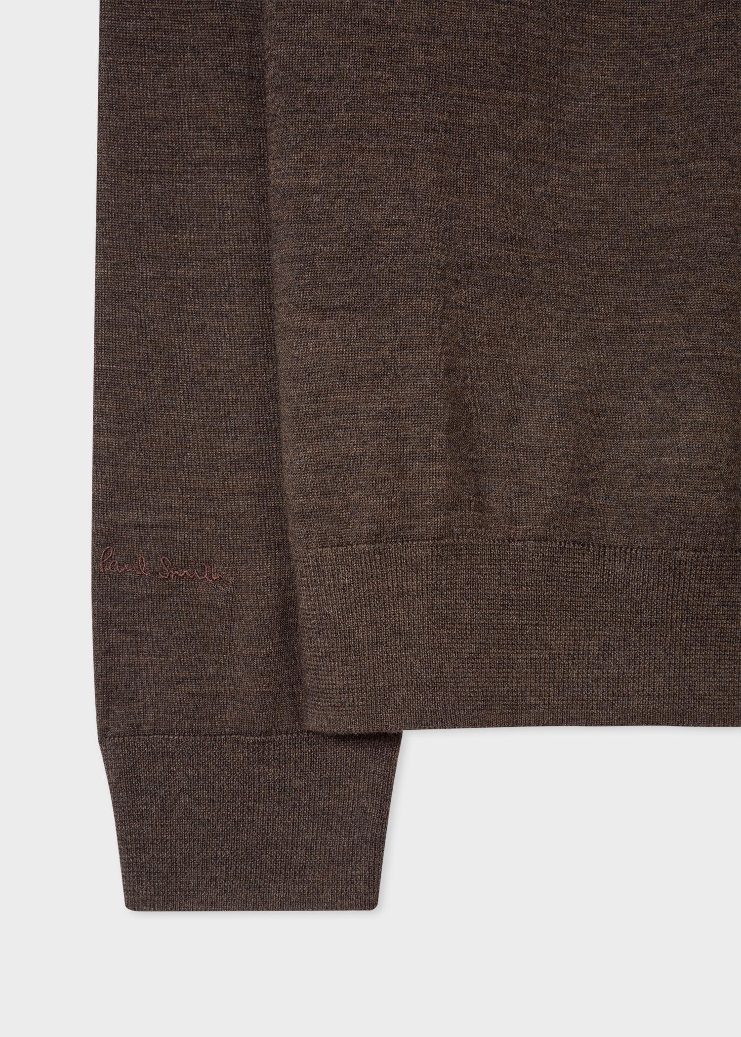 ddb96be7fb0 Men's Hazelnut Funnel Neck Merino Wool Half-Zip Sweater