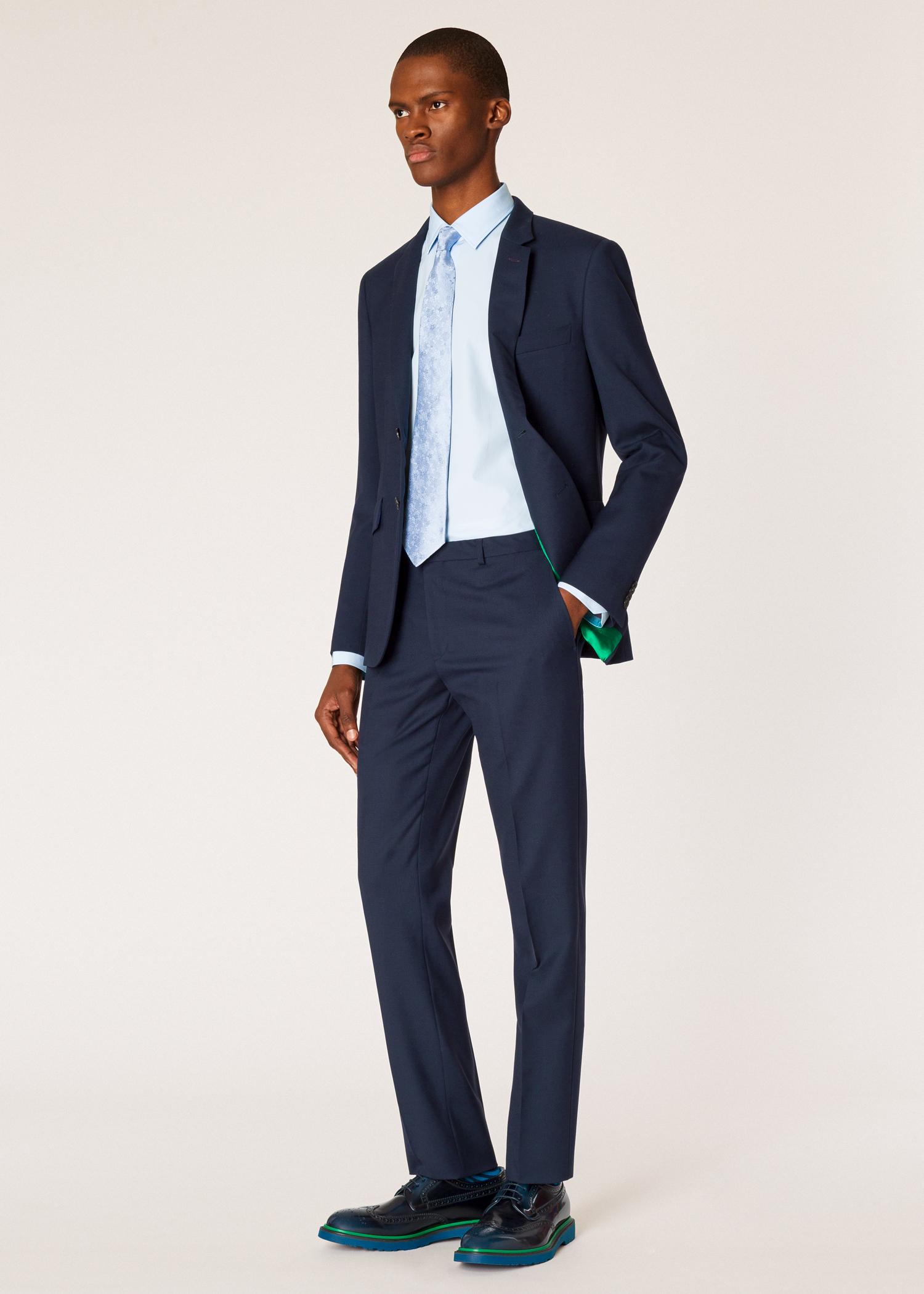 823804ffd8 The Kensington - Men's Slim-Fit Navy Wool Suit 'A Suit To Travel In ...