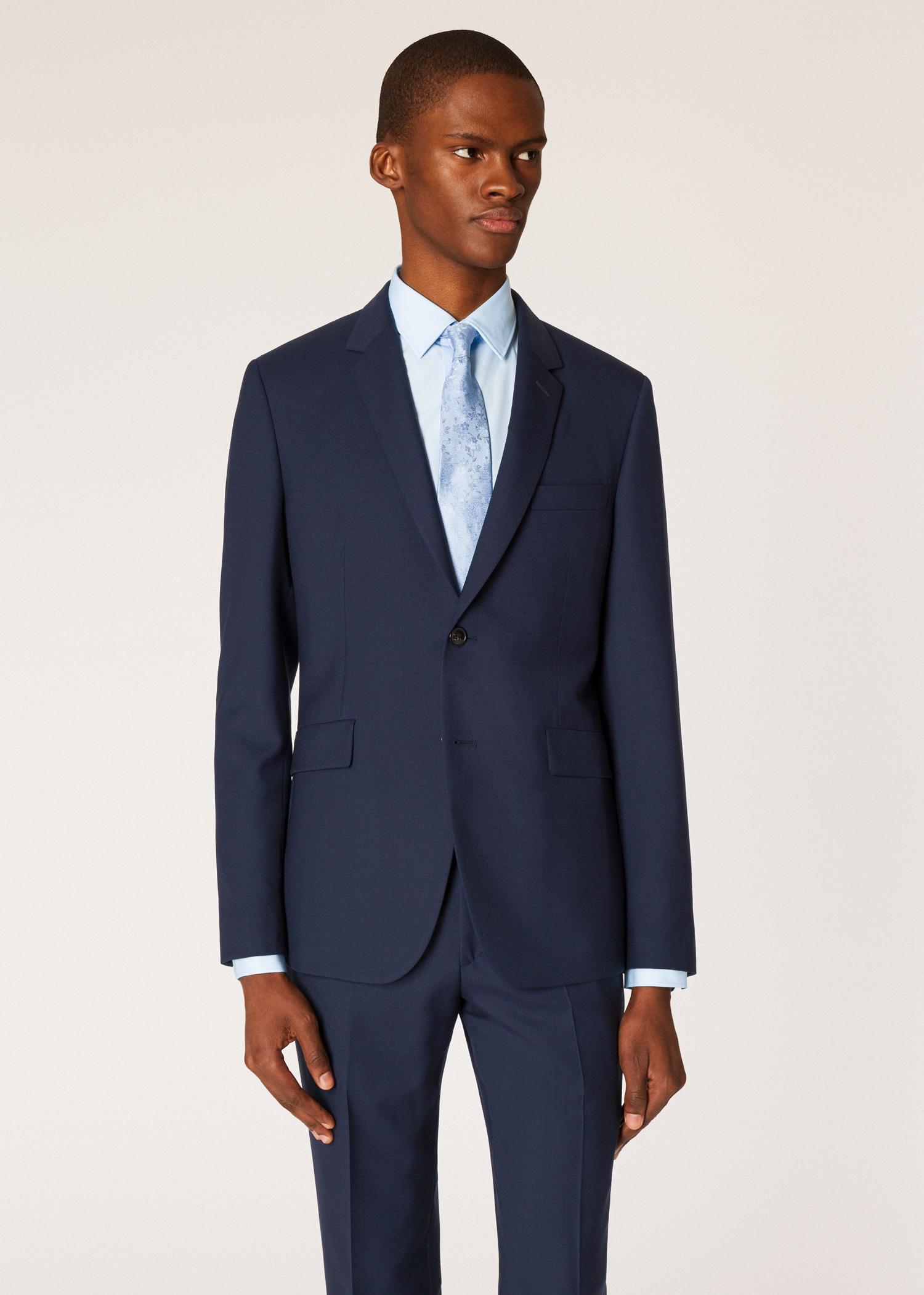 364bffbf8f The Kensington - Men's Slim-Fit Navy Wool 'A Suit To Travel In'