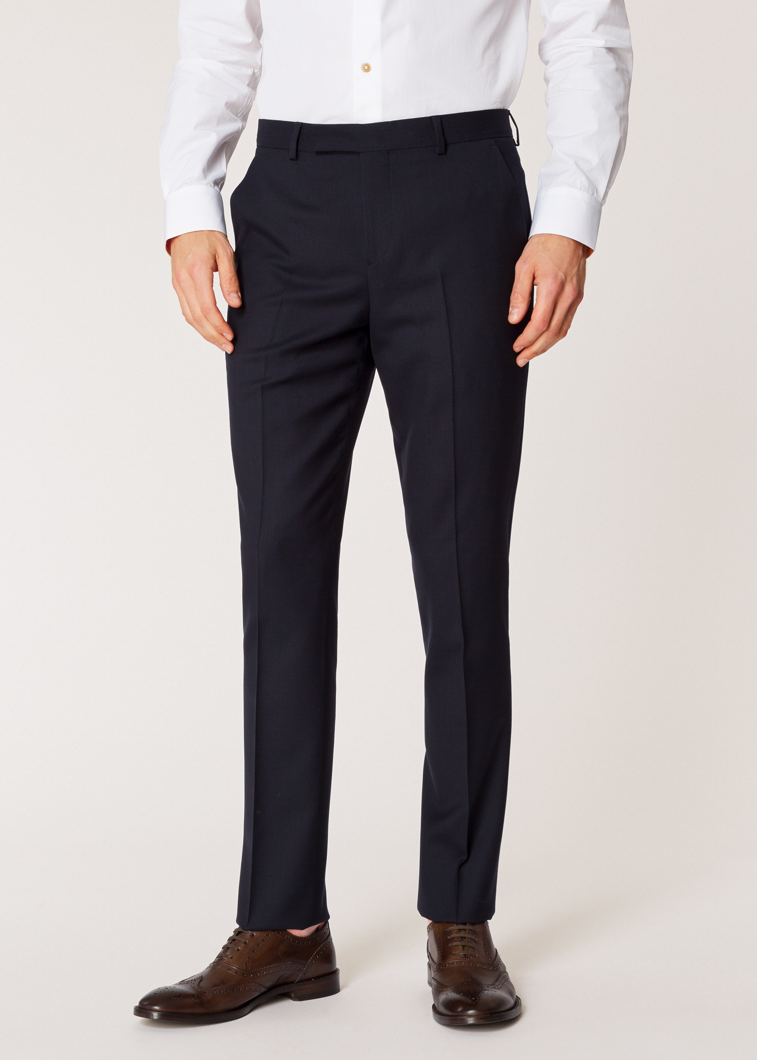 c5f817e9 The Soho - Men's Tailored-Fit Navy Wool 'A Suit To Travel In' - Paul ...