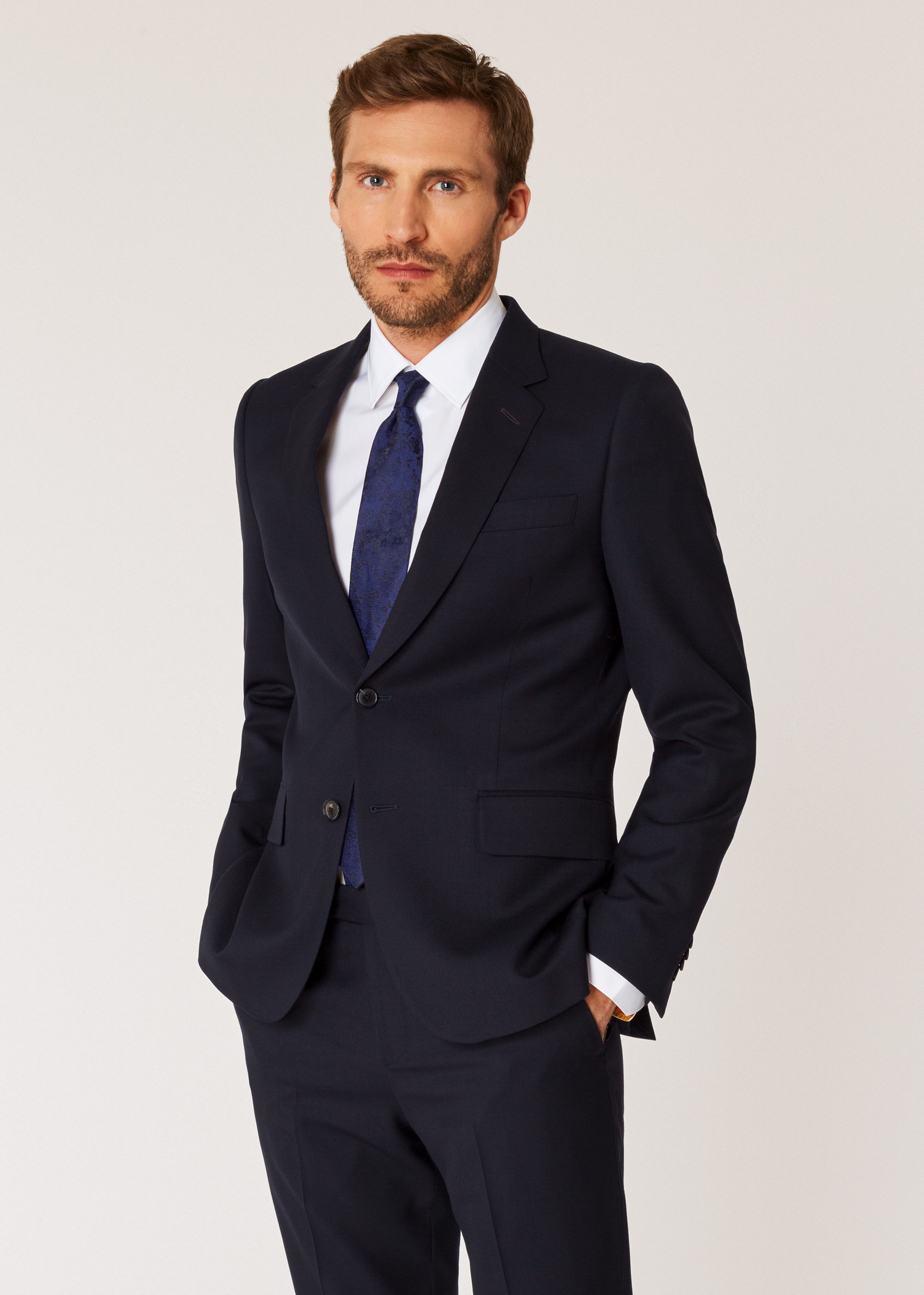 c4daa00b56 The Soho - Men's Tailored-Fit Navy Wool 'A Suit To Travel In' - Paul ...