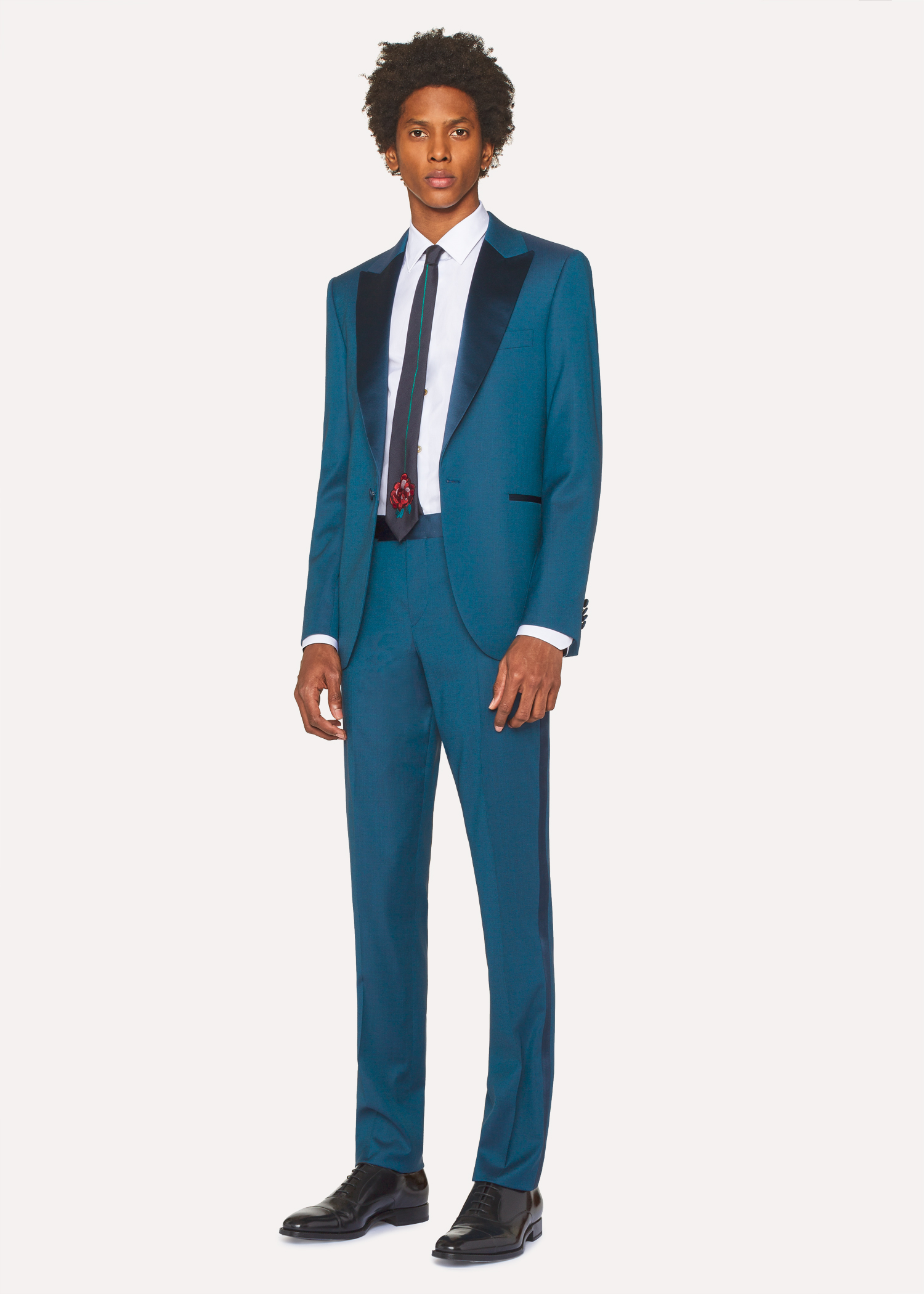 dadc725ef10 Men s Tailored-Fit Teal Wool Evening Suit - Paul Smith US