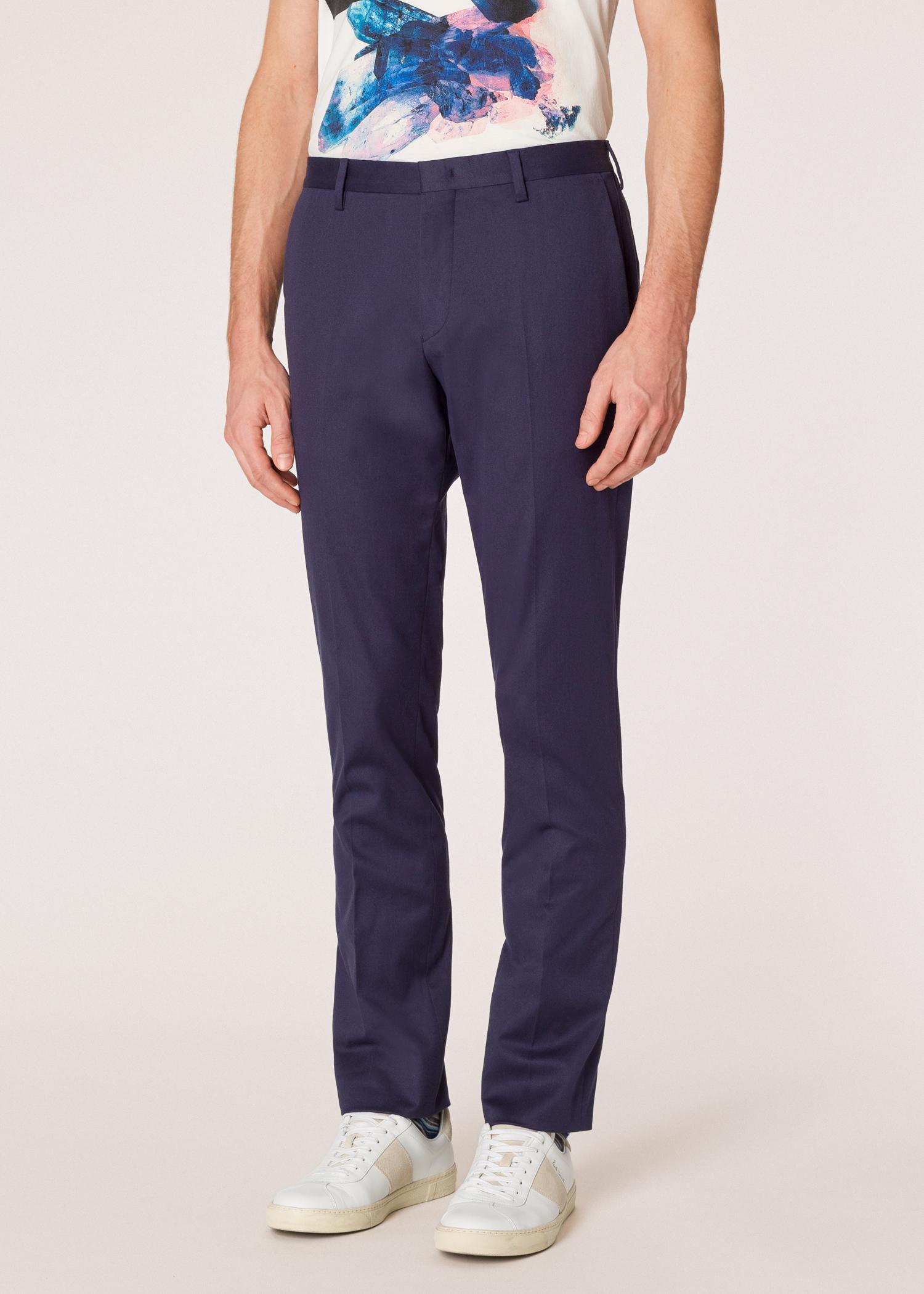 1b3337c4c4 Men's Slim-Fit Navy Stretch-Cotton Chinos