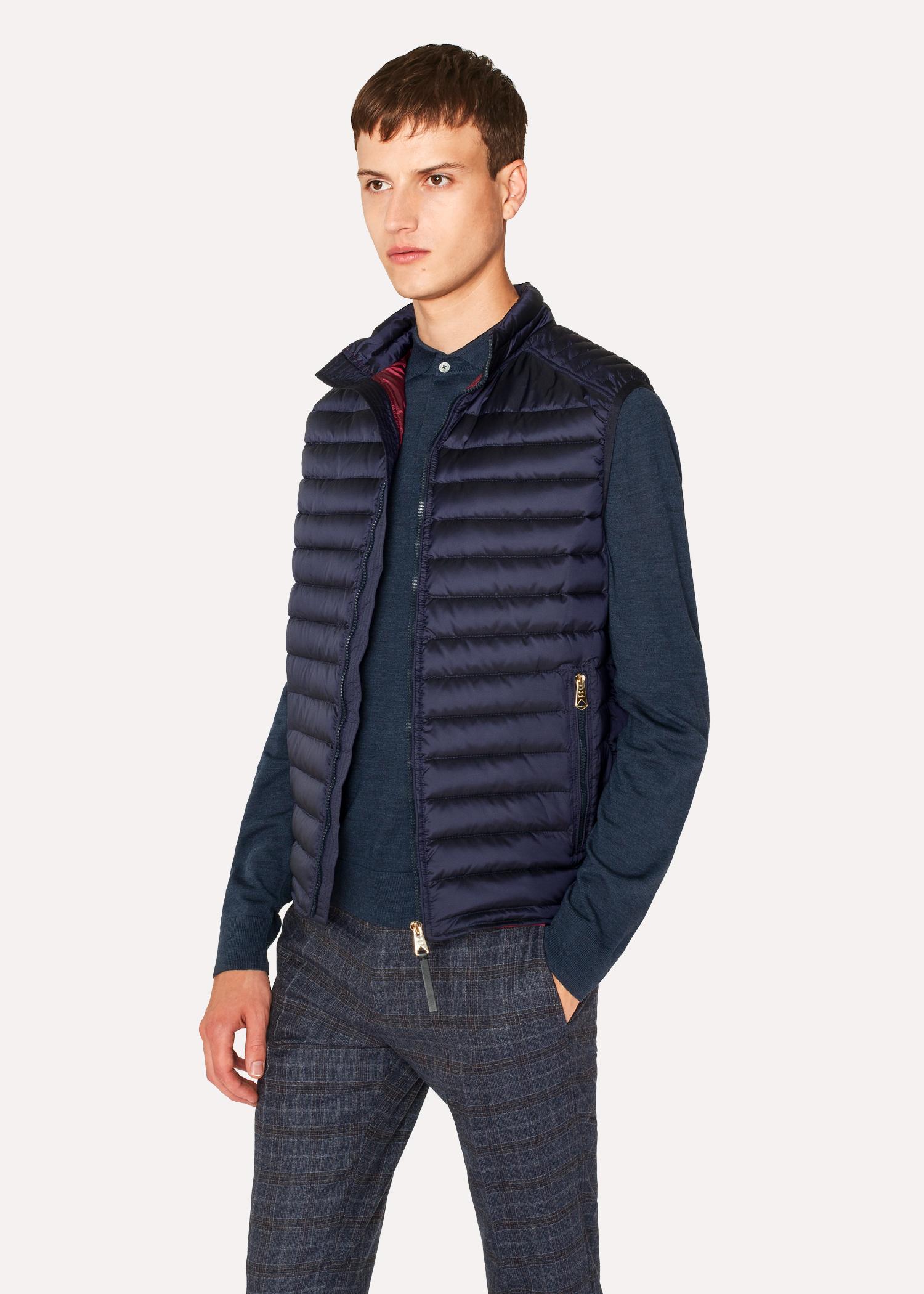 912969acf1 Men s Navy Quilted Down Gilet - Paul Smith Australia