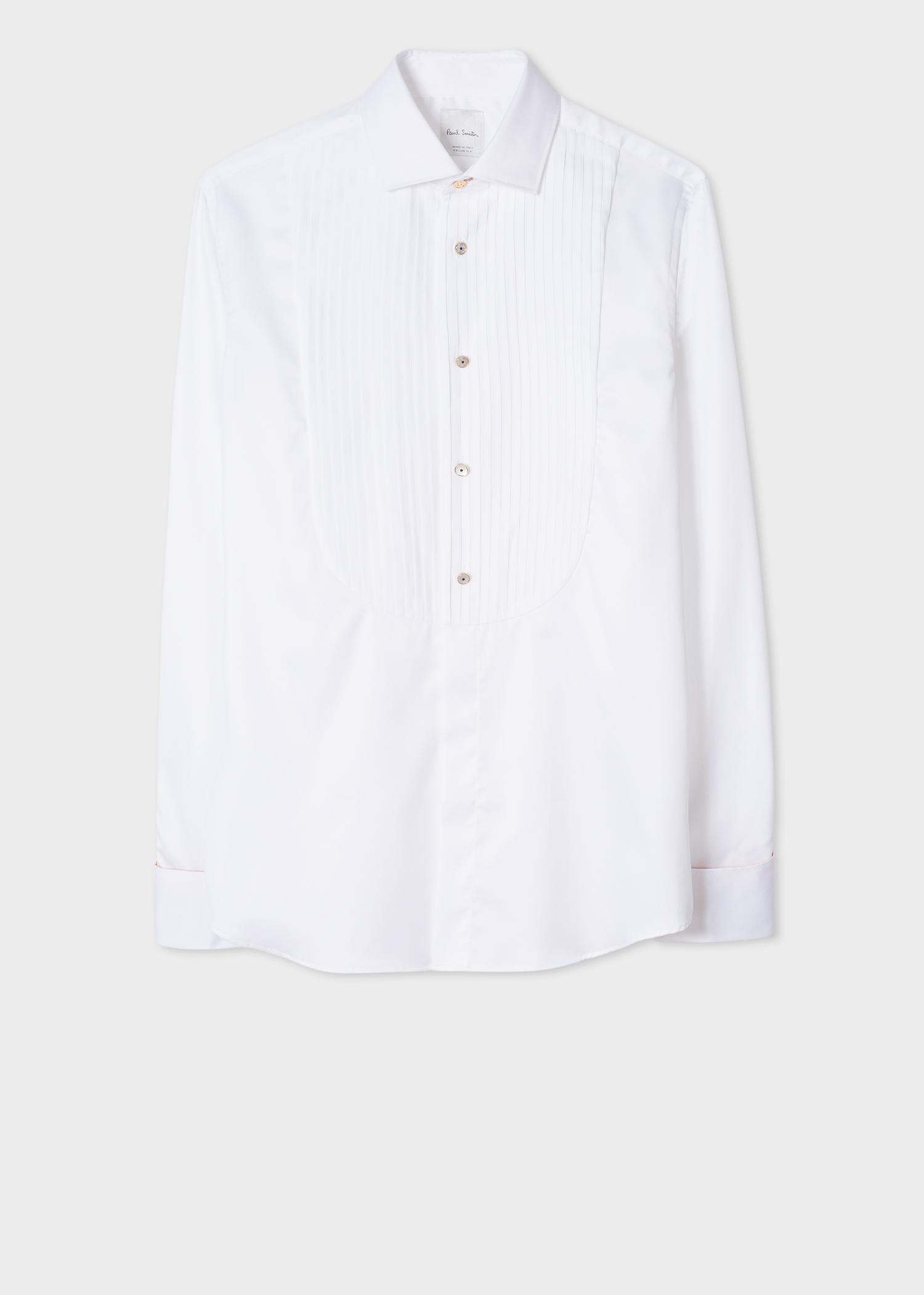 chemise de soir e homme blanche plastron pliss poignets 39 artist stripe 39 en coton stretch. Black Bedroom Furniture Sets. Home Design Ideas