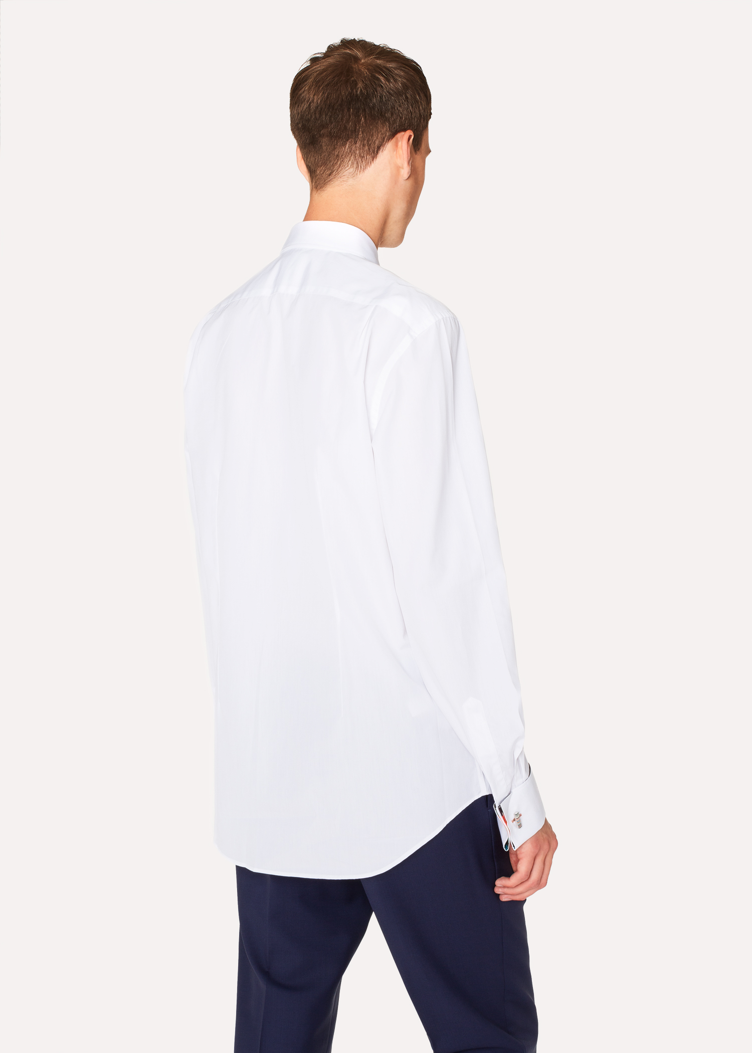 Men S Tailored Fit White Pleated Bib Cotton Evening Shirt With