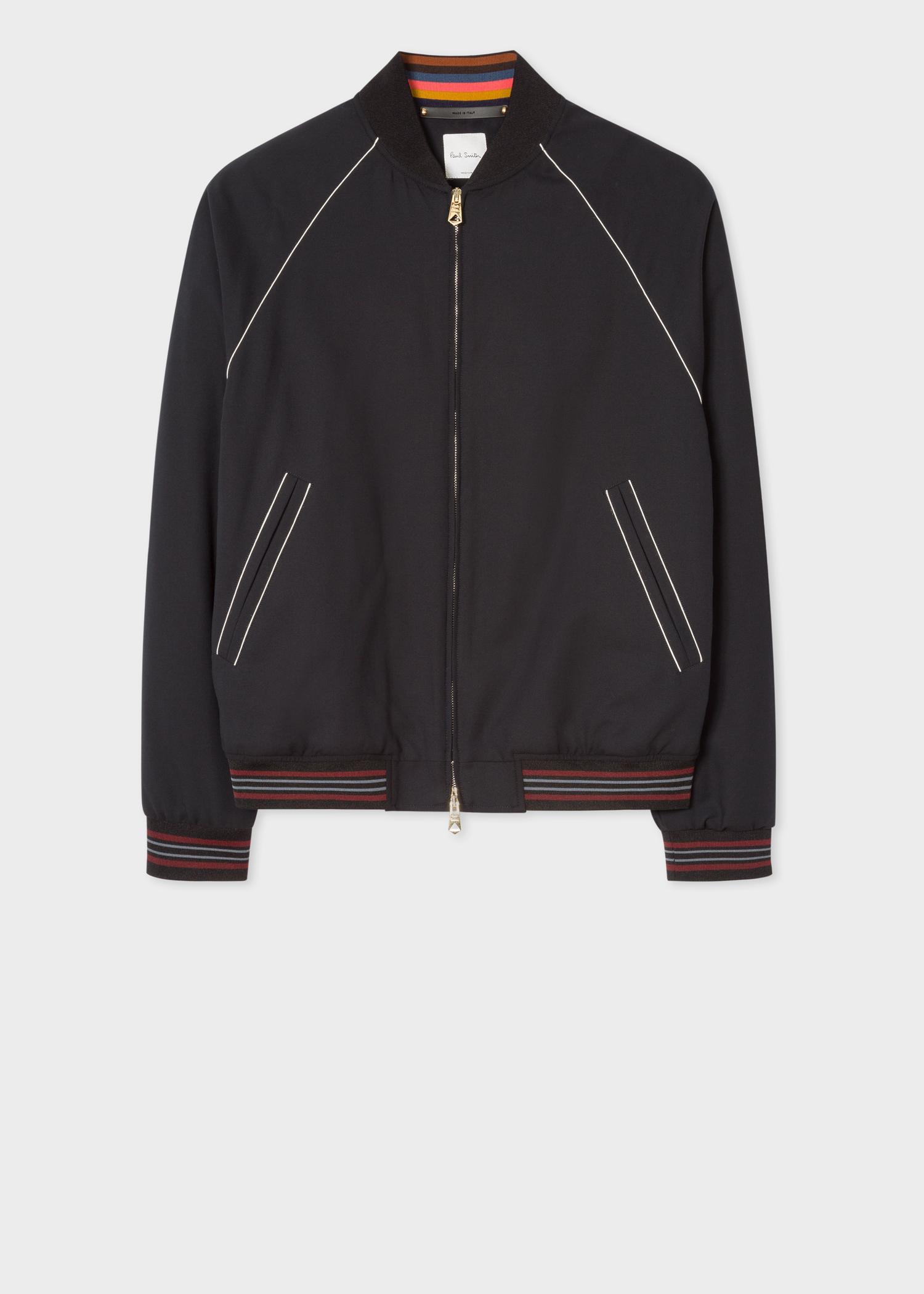 1d51a3388 Men's Black 'Artist Studio' Cotton Bomber Jacket