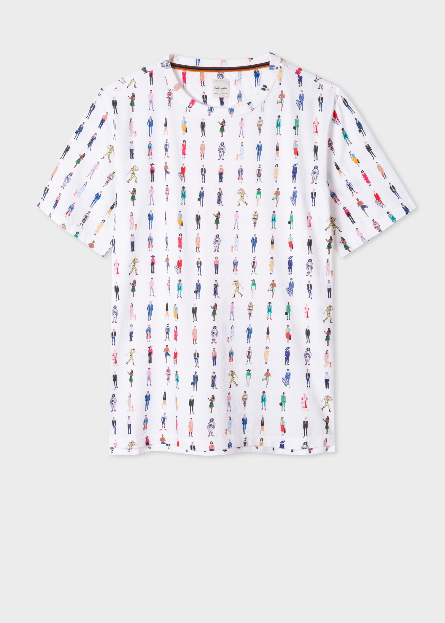 353cfbbcb25 Vue de face - Tee-shirt Homme Motif  People  En Coton Paul Smith