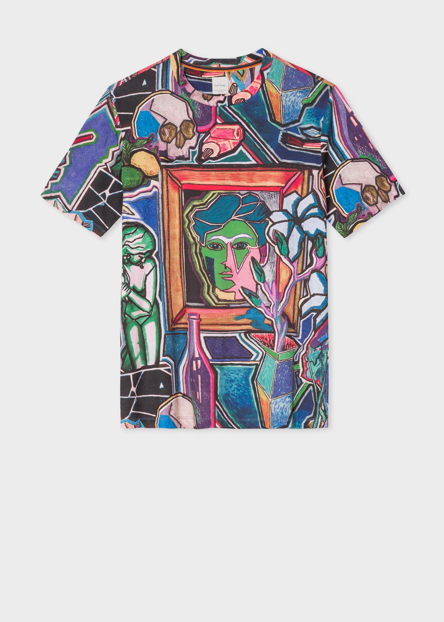 ed25f2cfd Front view - Men's 'Artist Studio' Print T-Shirt Paul Smith
