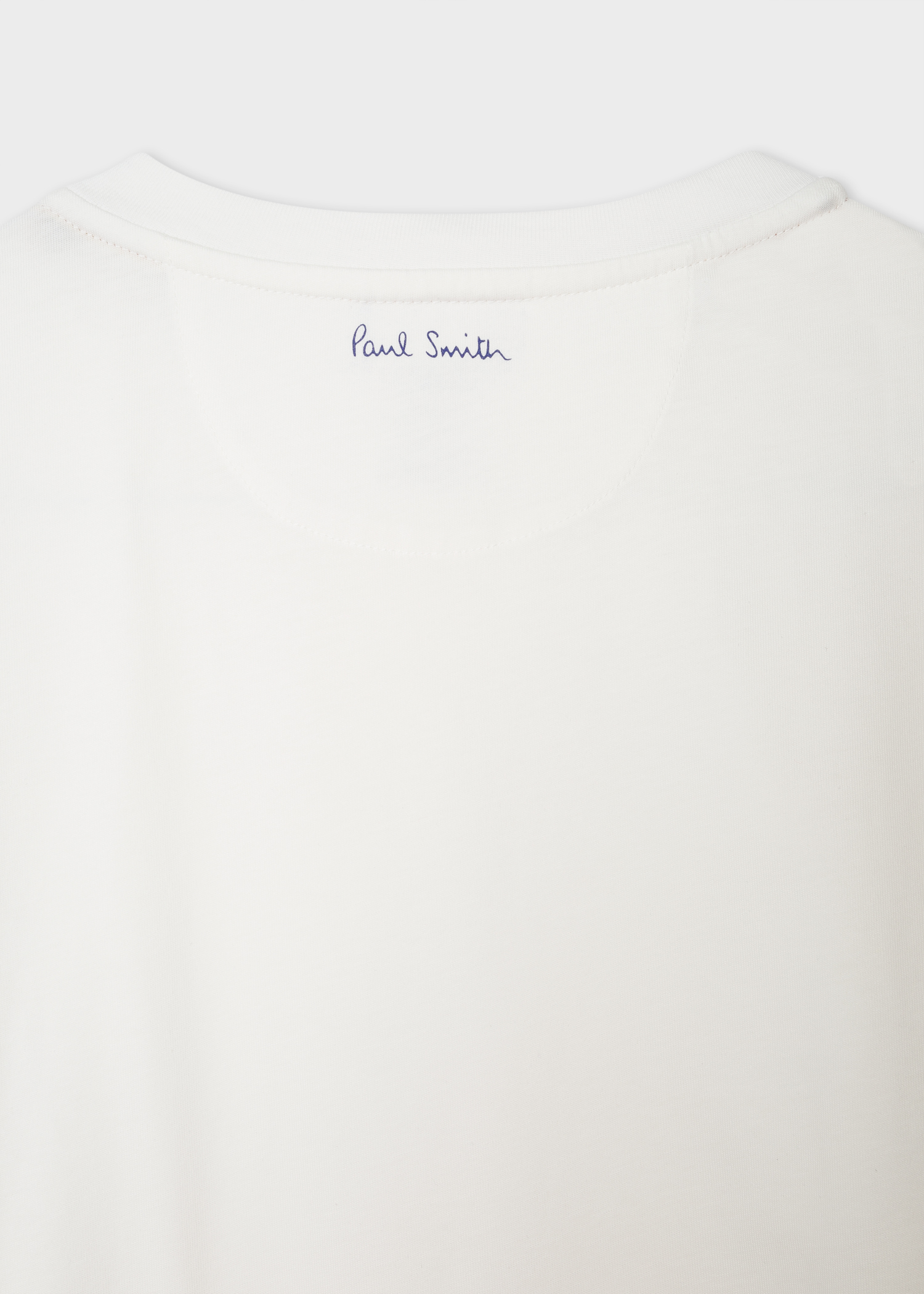 264ce1a3d345 Men's Slim-Fit White T-Shirt With 'People' Motif Embroidery - Paul Smith