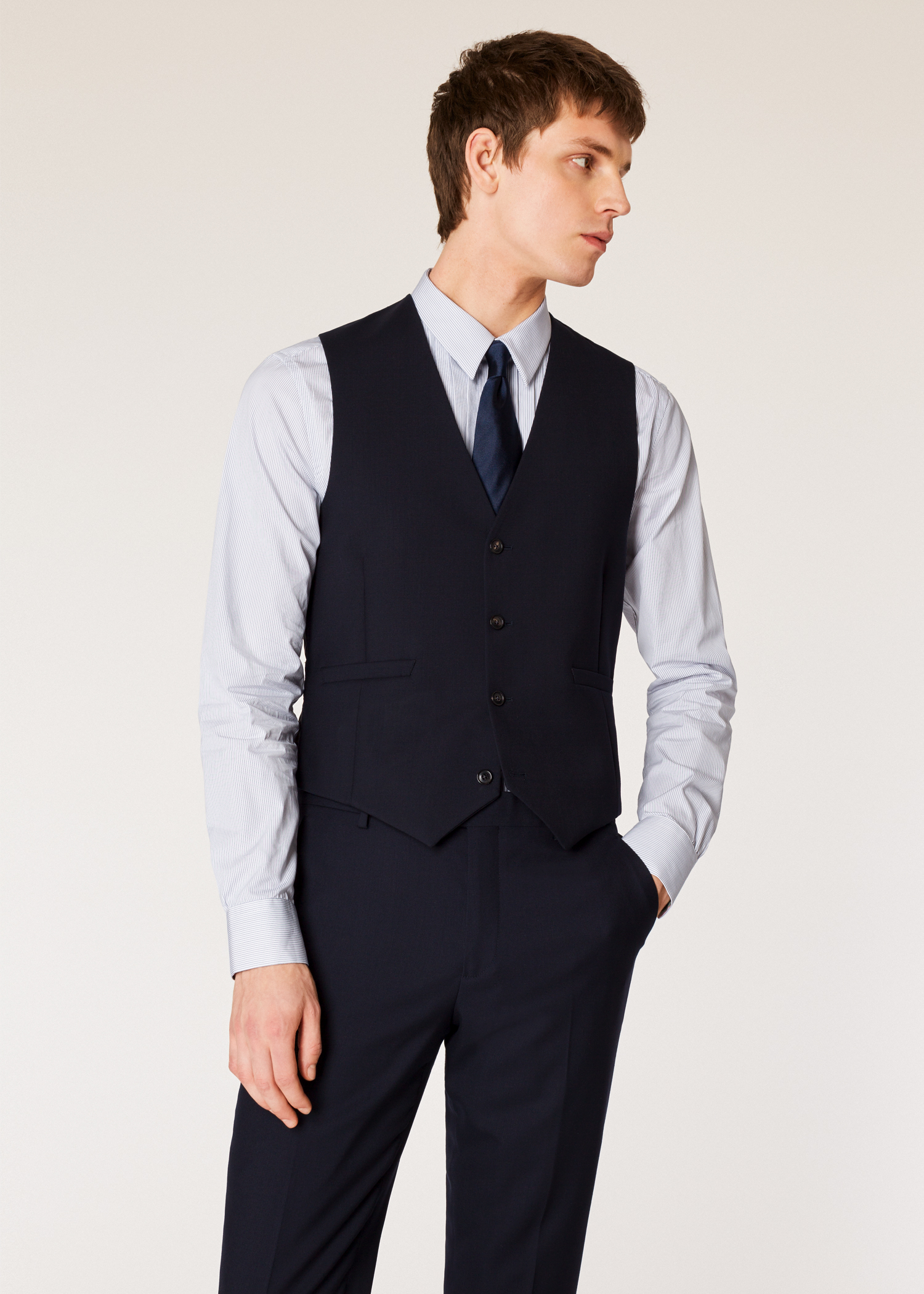 Gilet De Costume Paul Smith Homme  A Suit To Travel In  Bleu Marine ... 7f92208f1d0