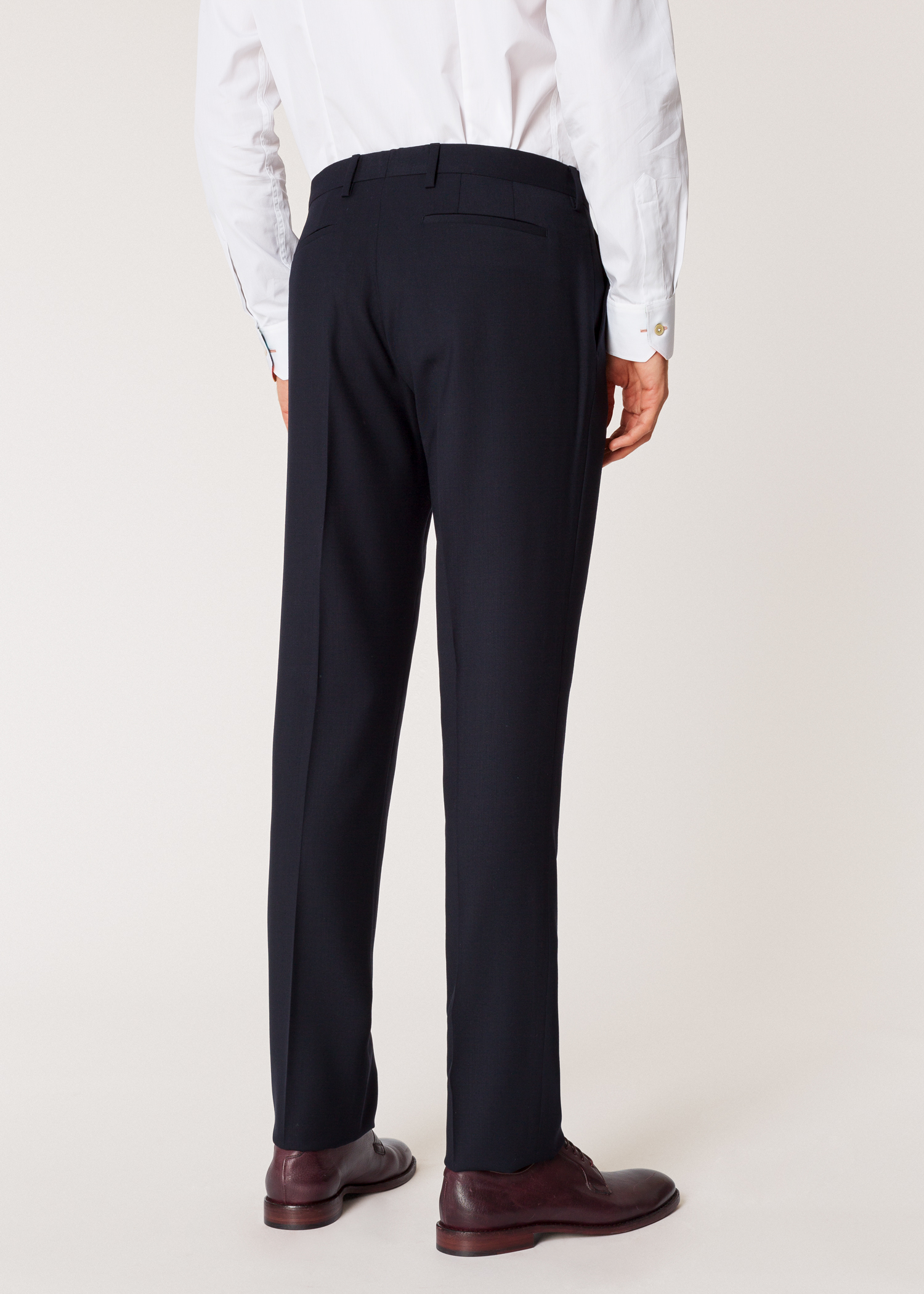 004142a5cdd6 Men's Slim-Fit Navy Wool 'A Suit To Travel In' Trousers - Paul Smith