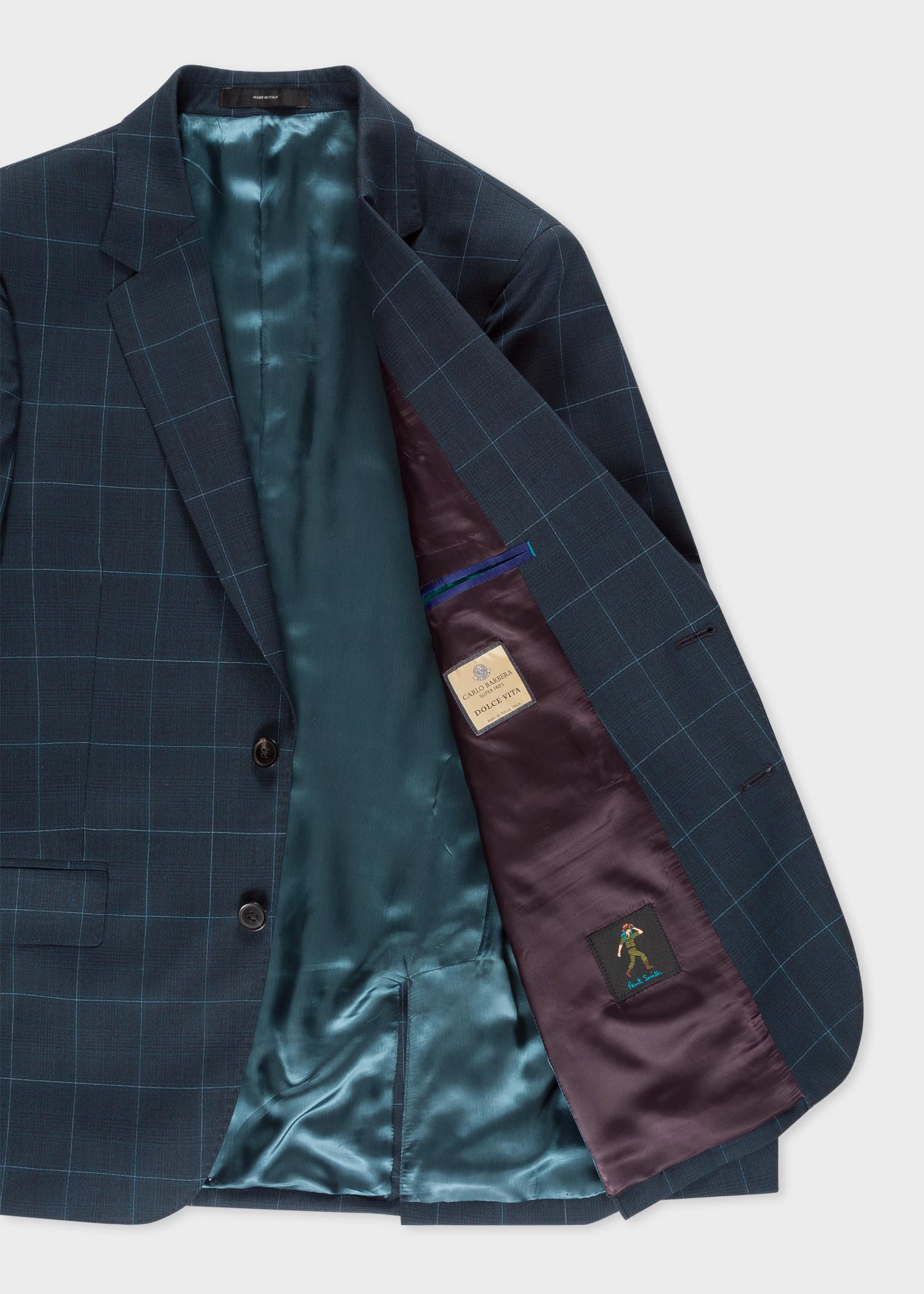 2f6bab100c81cd Blazer open View - Men's Slim-Fit Dark Navy Check Wool Suit Paul Smith