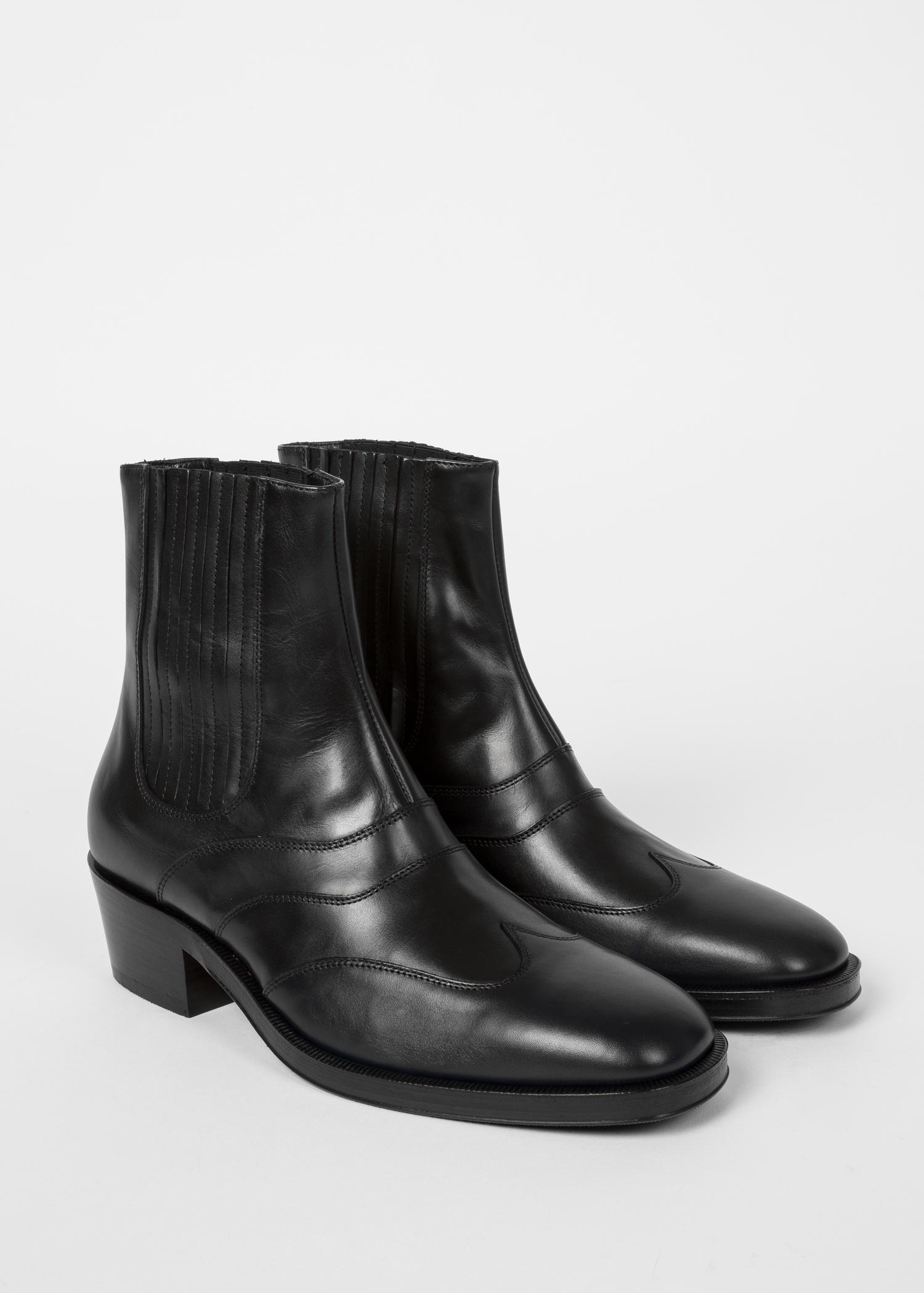 b748c959d1613 Diagonal view men dark navy and black leather anvil chelsea boots jpg  1500x2100 Dark navy boots