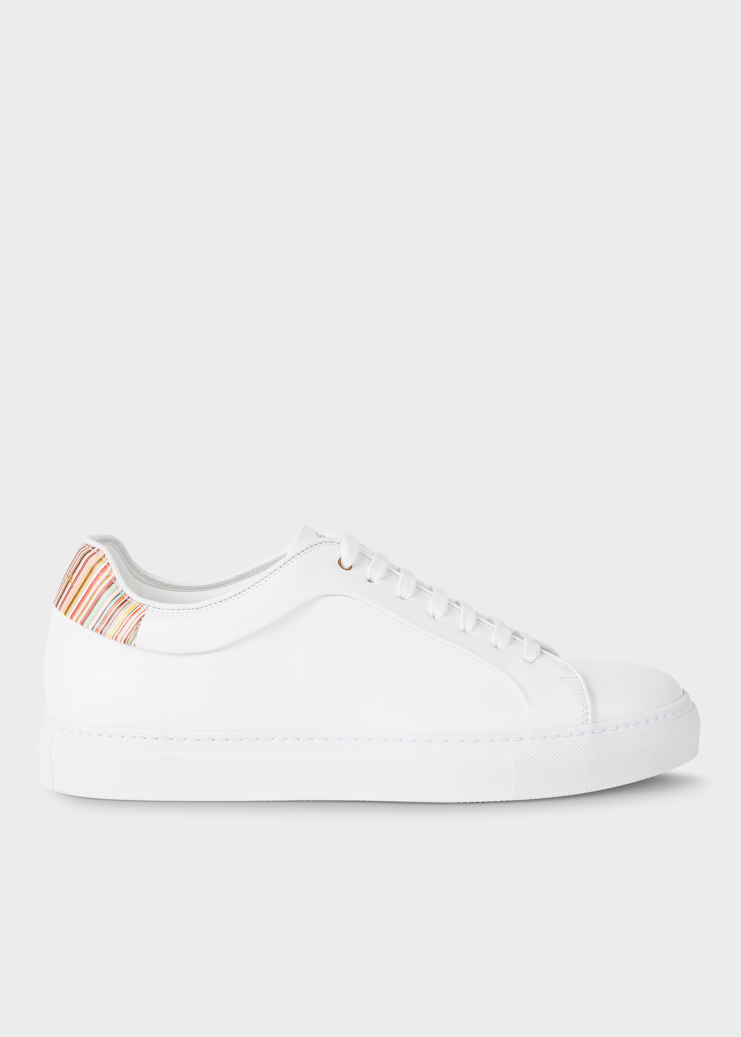 Paul Baskets 'signature En Homme Blanches Cuir Stripe' 'basso' Y7gvfyb6