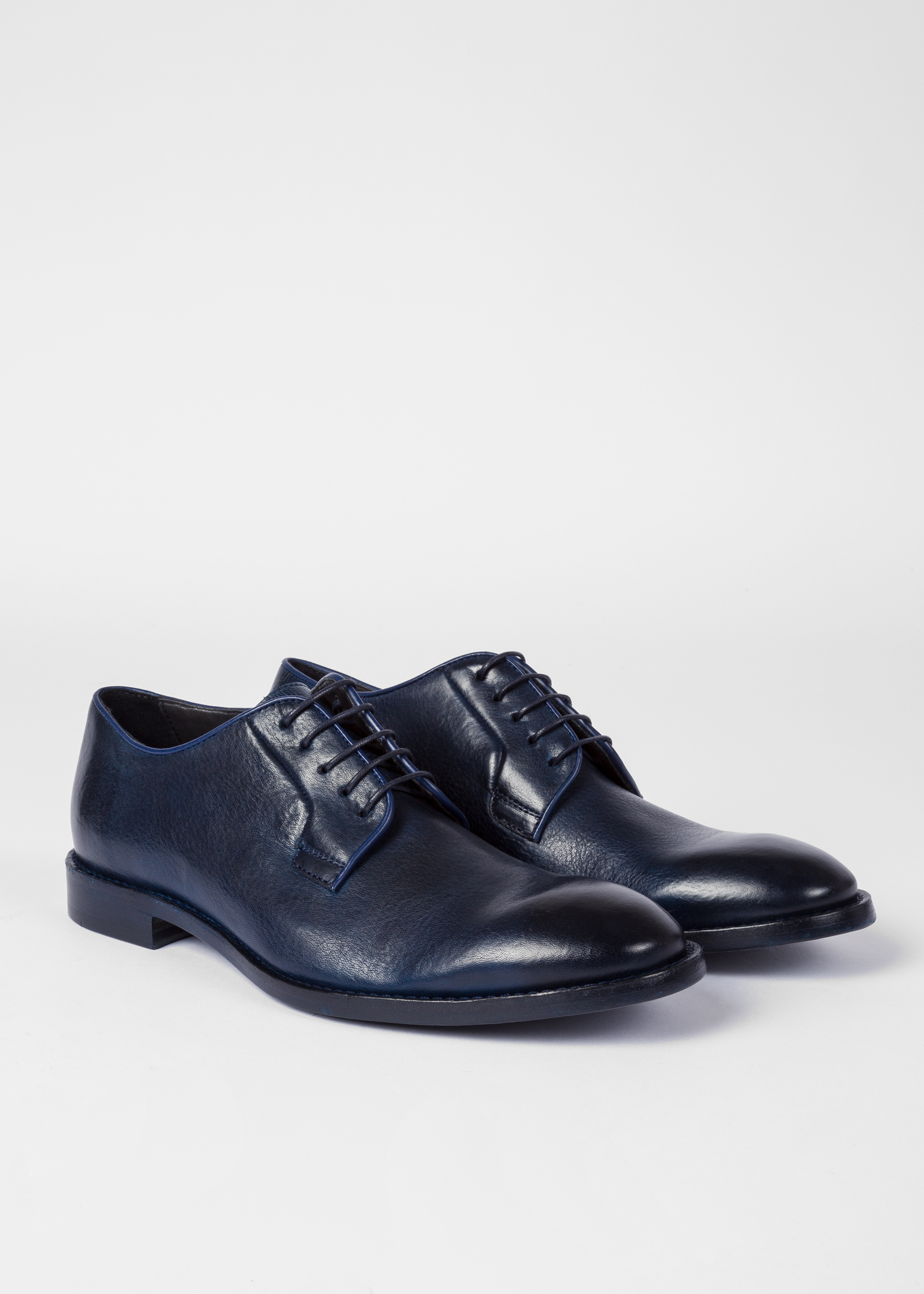 d7803156ac1 Men's Dark Navy Leather 'Chester' Flexible Travel Shoes - Paul Smith ...