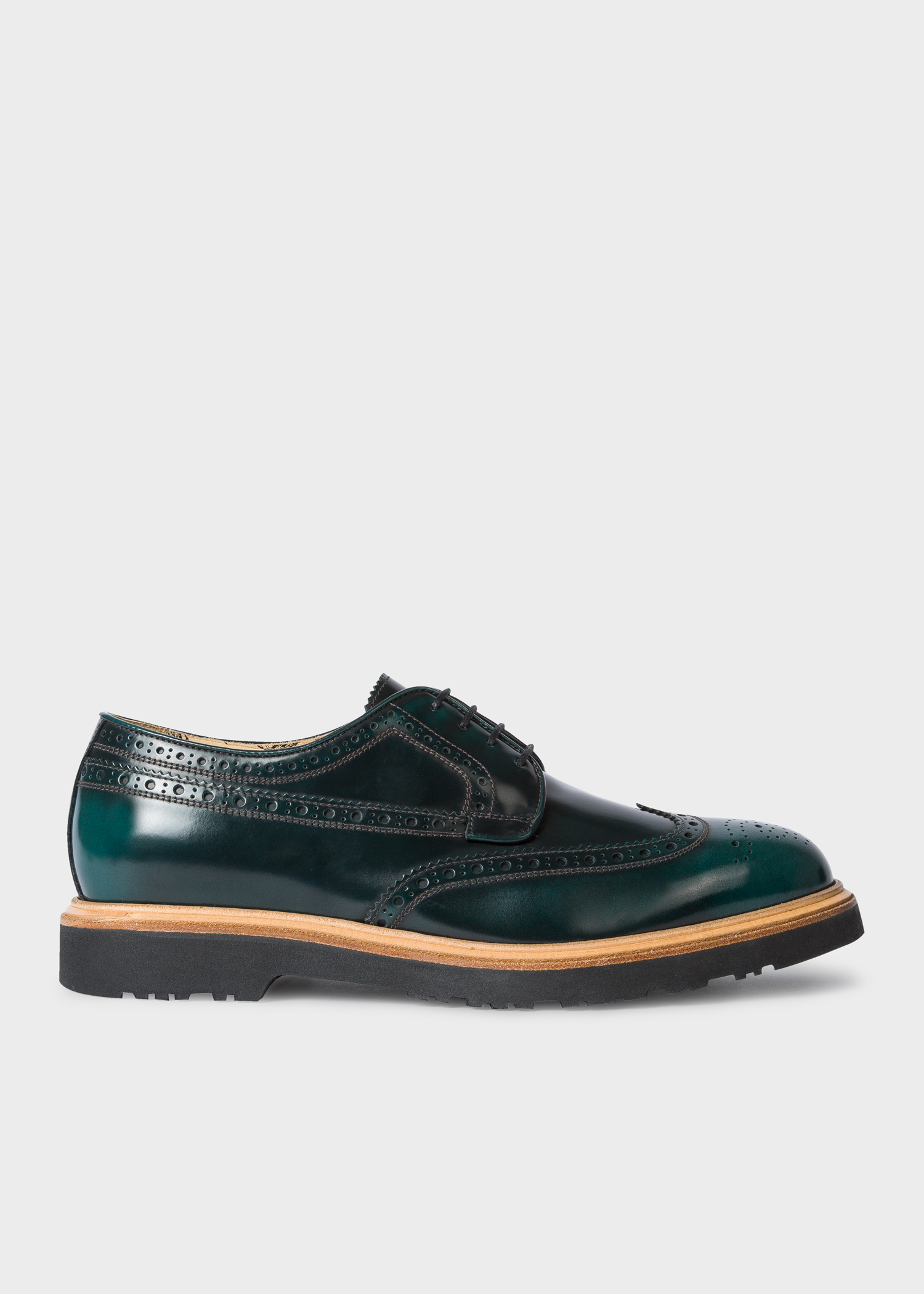 Men S Bottle Green Crispin Brogues Paul Smith