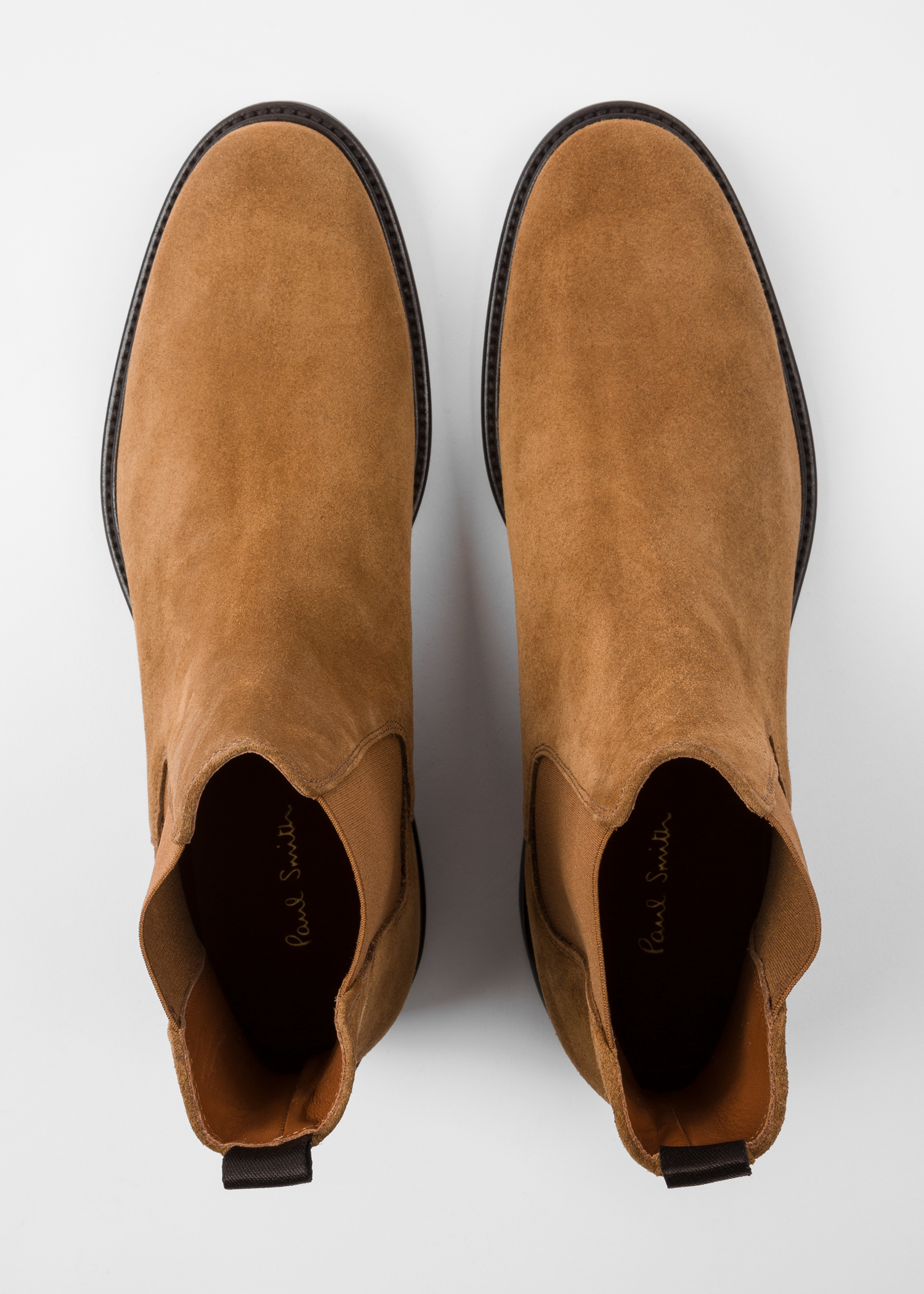 5d8cba340bfe Top down view - Men's Tan Suede 'Jake' Chelsea Boots Paul Smith