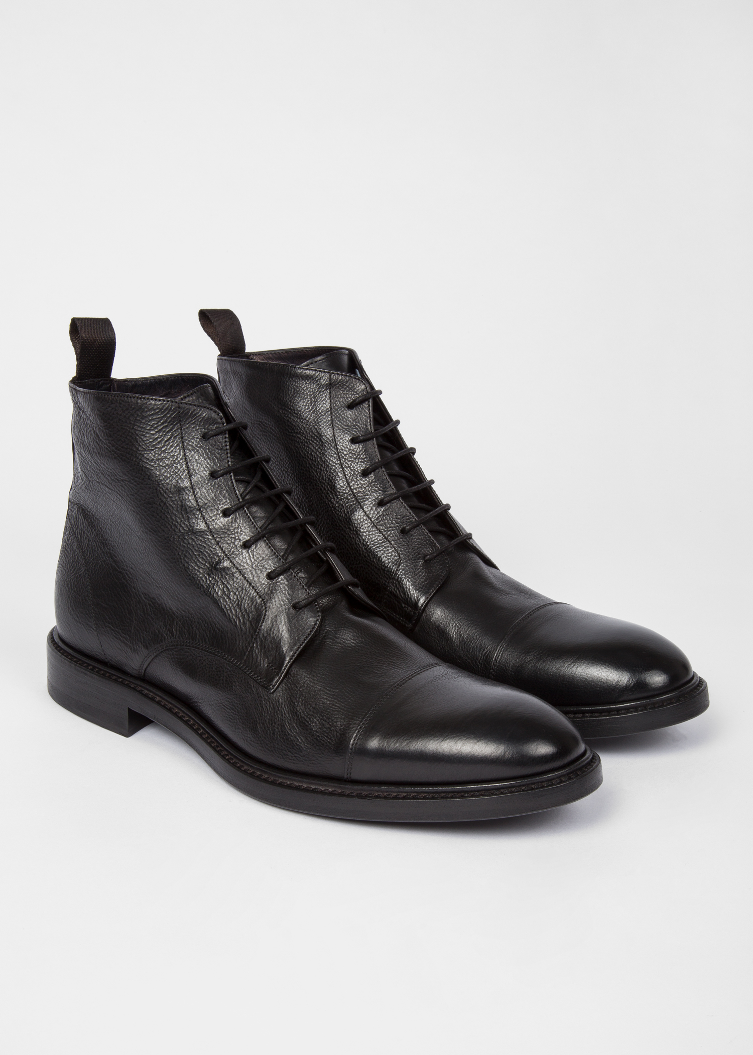 cb6fcb634 Men's Dip-Dyed Black Calf Leather 'Jarman' Boots - Paul Smith US