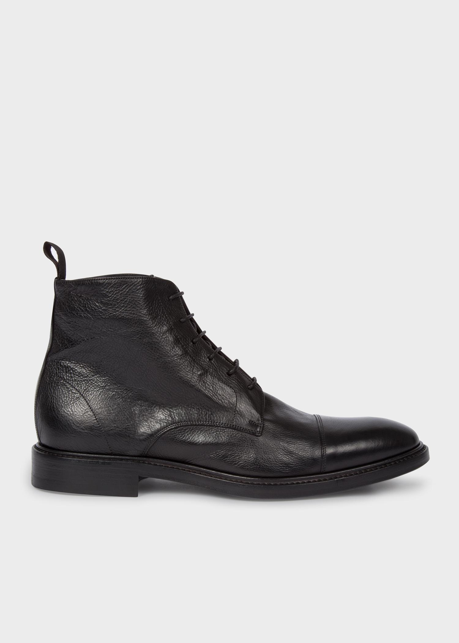 2e3eb7a9f96e Men s Dip-Dyed Black Calf Leather  Jarman  Boots - Paul Smith Denmark
