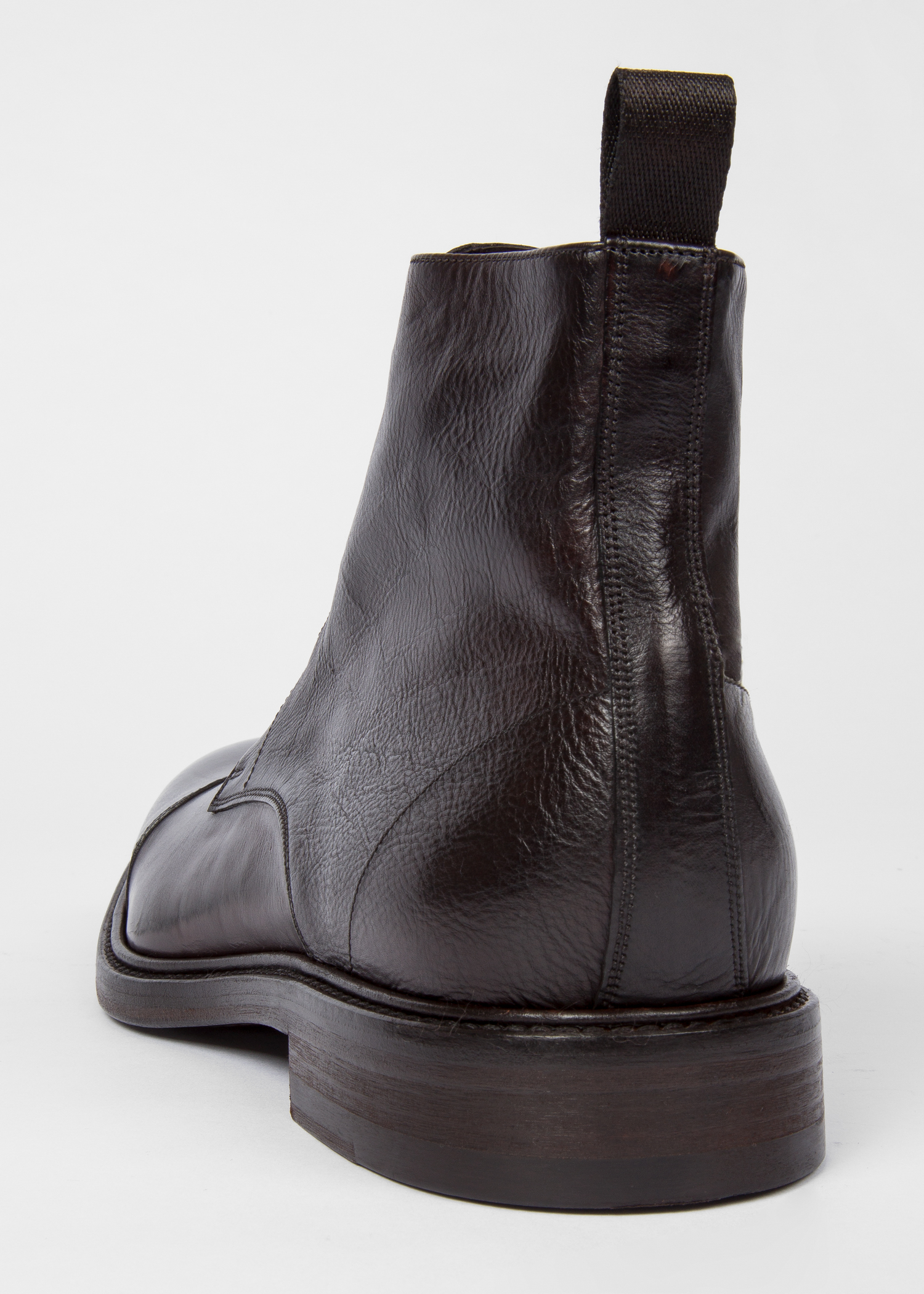 40a8daa7c Men's Dip-Dyed Dark Brown Calf Leather 'Jarman' Boots - Paul Smith US