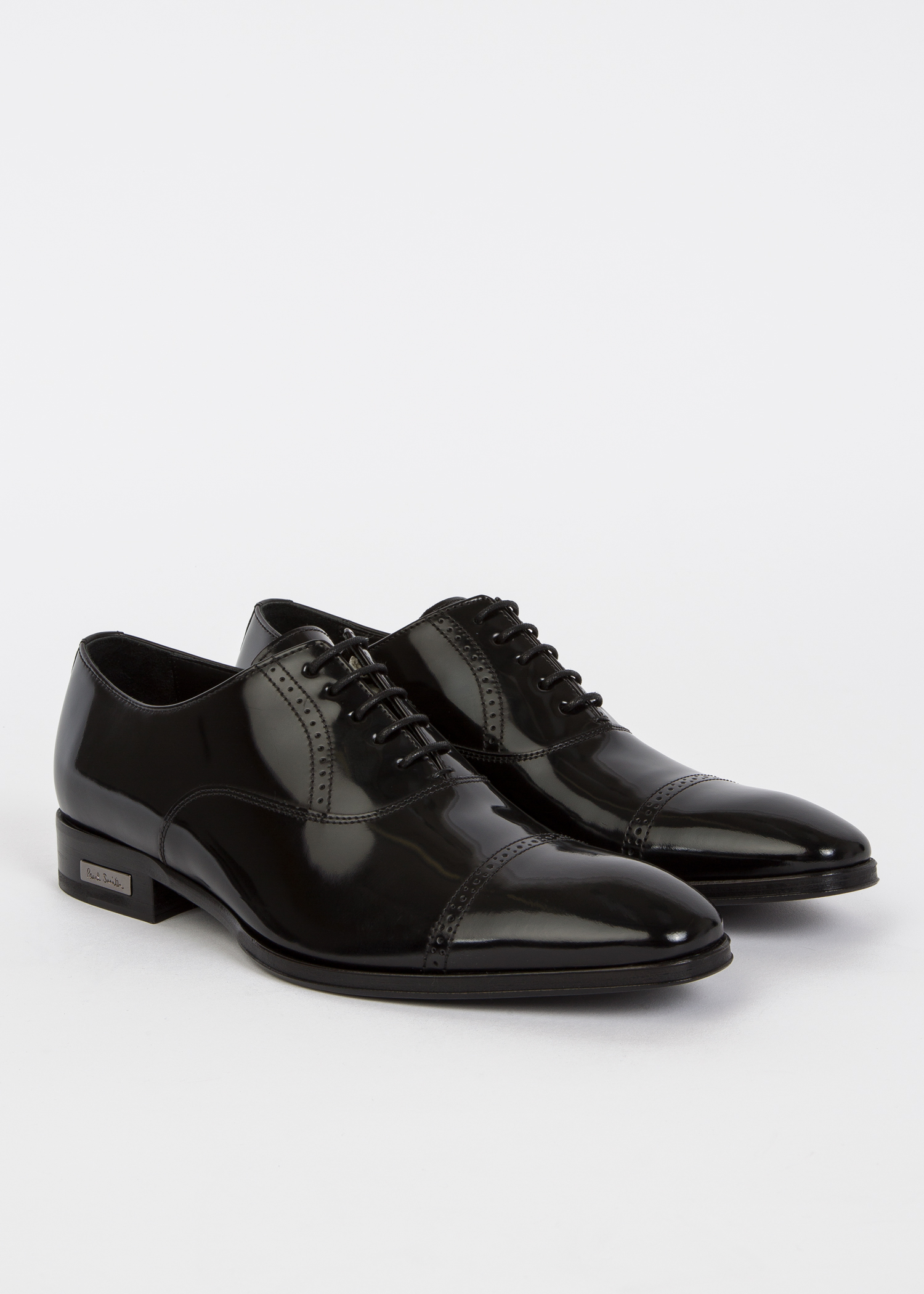 950ff4758e Angled view - Men s Black Patent Leather  Lord  Oxford Shoes ...