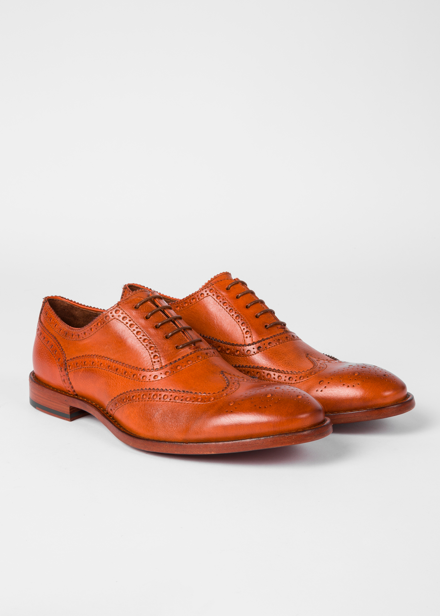 c1d99853f54 Men's Tan Leather 'Munro' Flexible Travel Brogues - Paul Smith