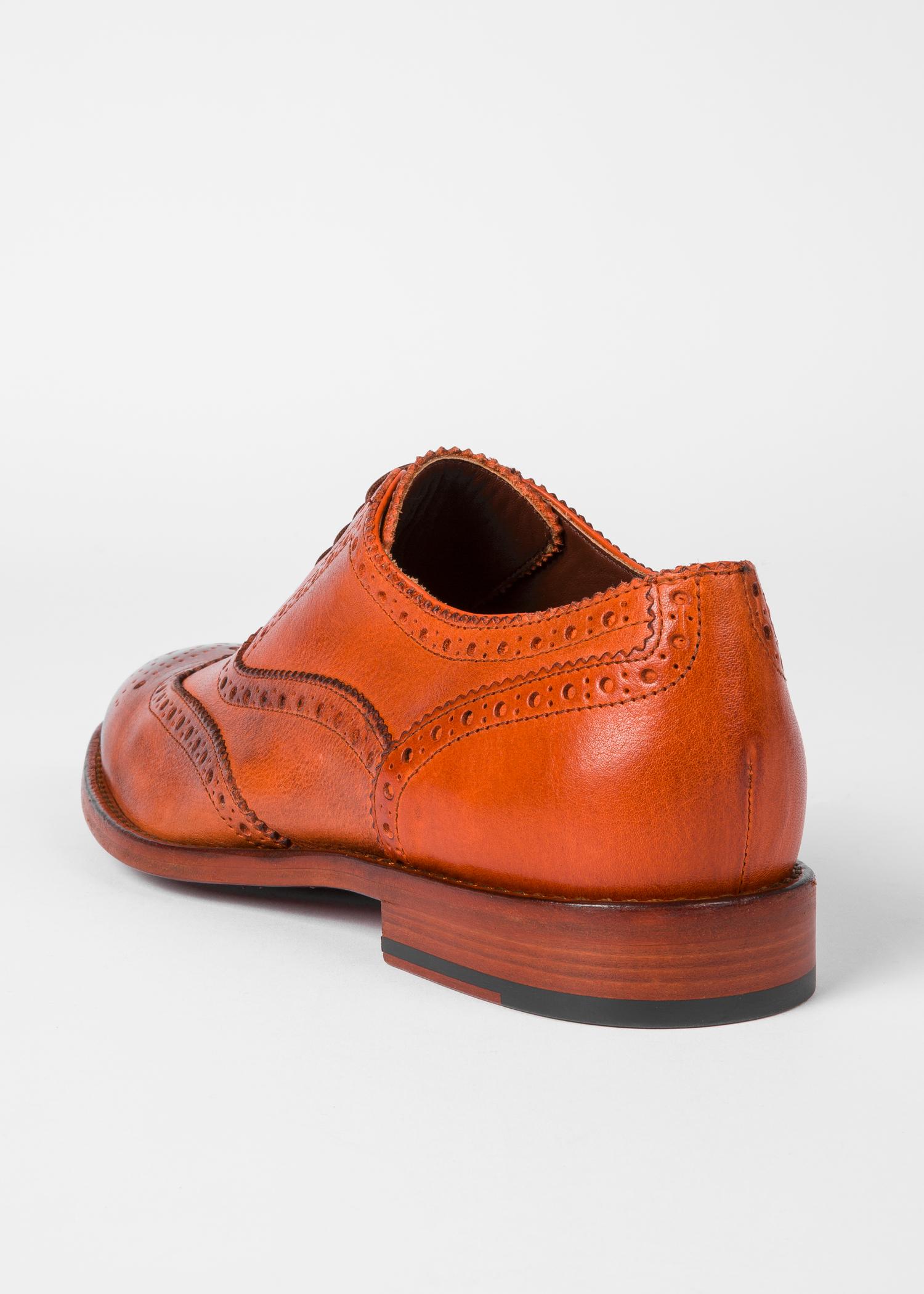Mens Burnt Orange Dress Shoes