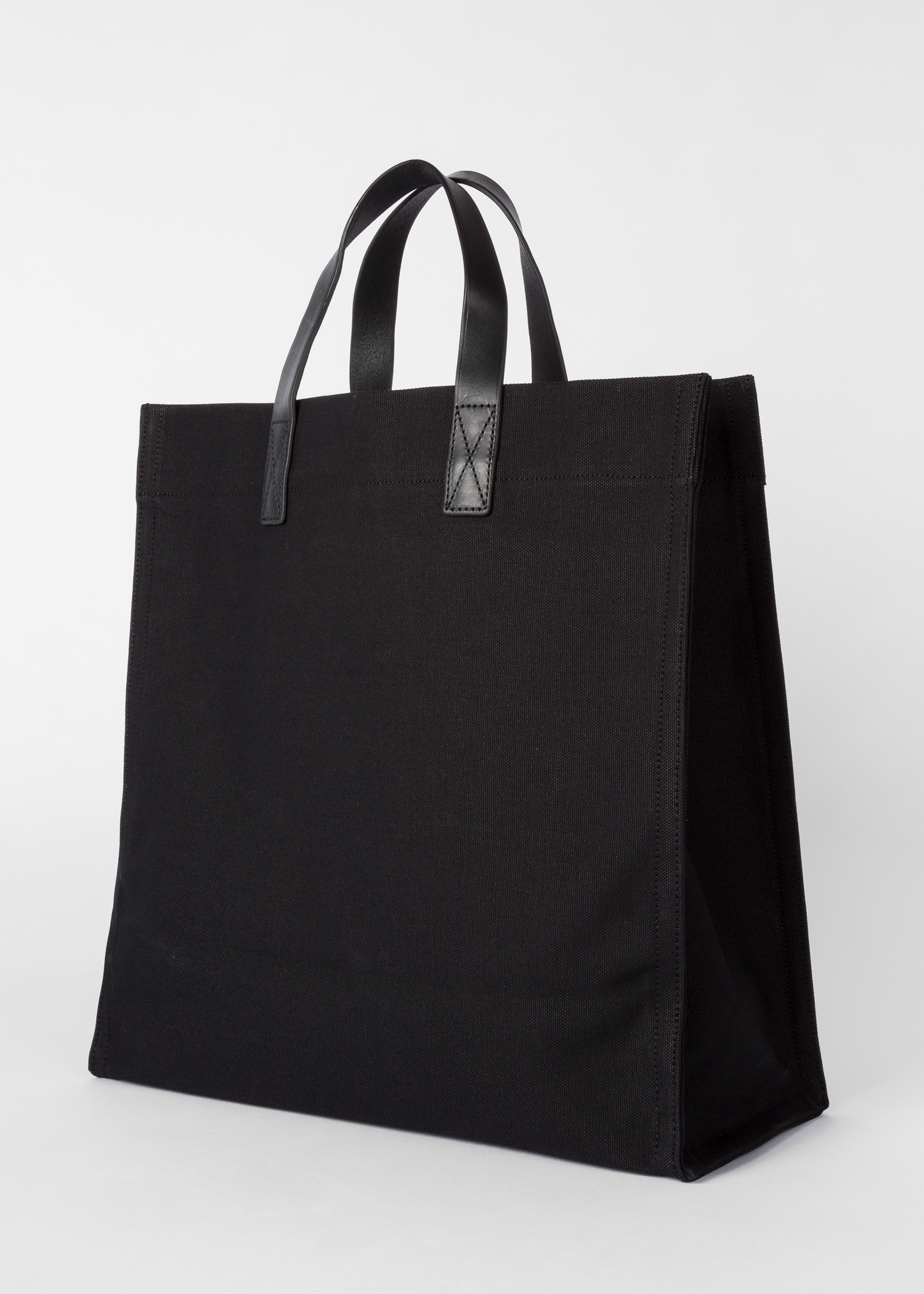 2eeb1fa150f0 Artful Lives Shark  Black Canvas Tote Bag - Paul Smith Australia