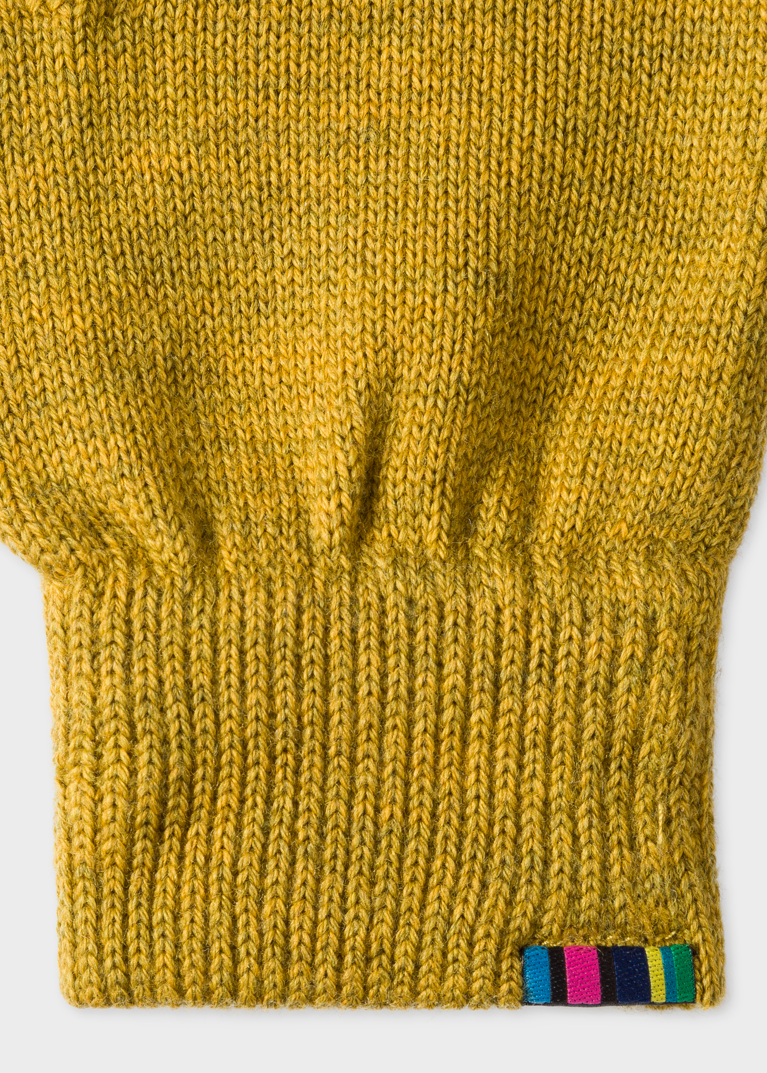 22f03cac918 Detailed View - Men s Mustard Yellow Lambswool Gloves Paul Smith