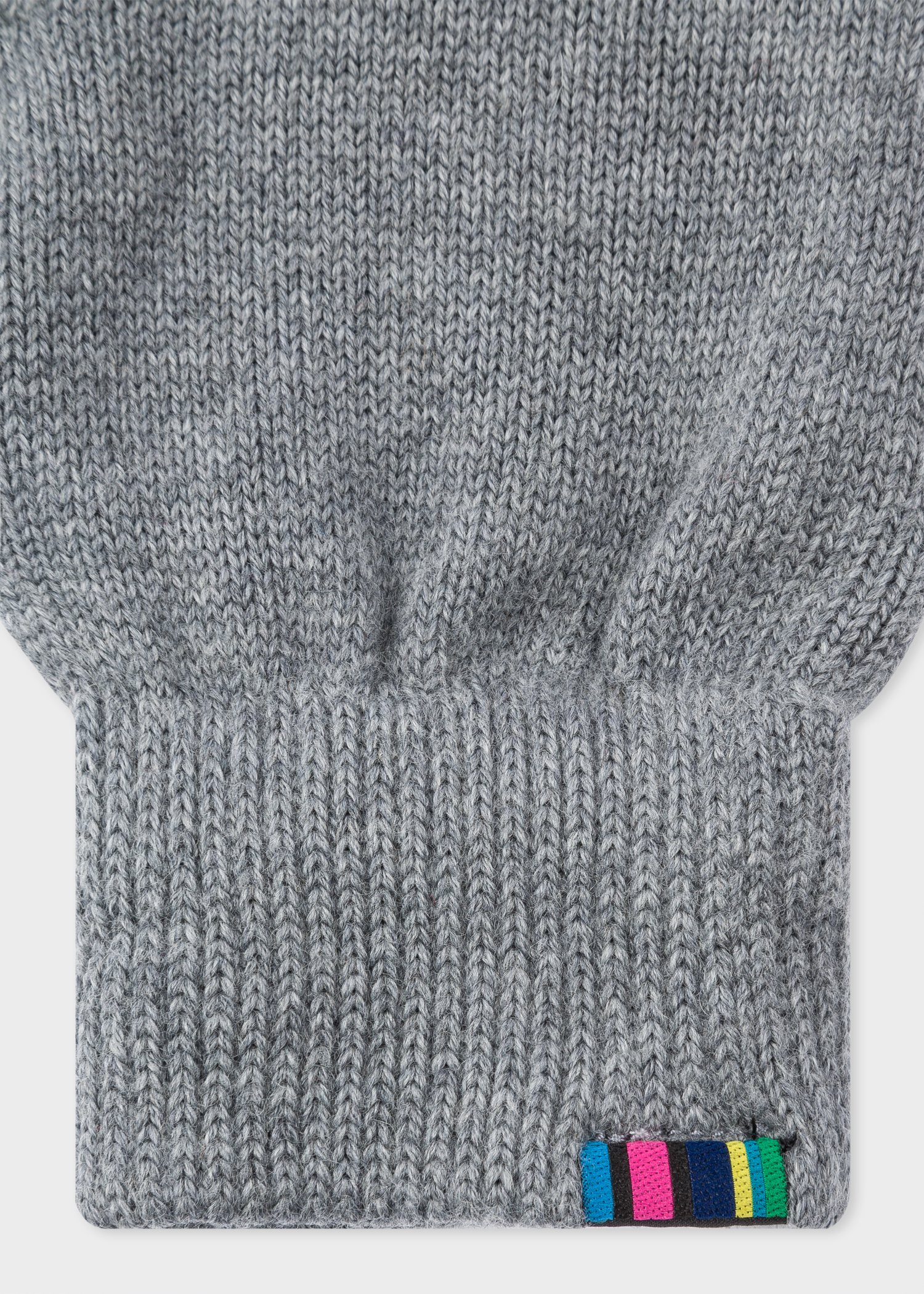 Detail view - Men s Grey Lambswool Gloves Paul Smith 88cad656d65a