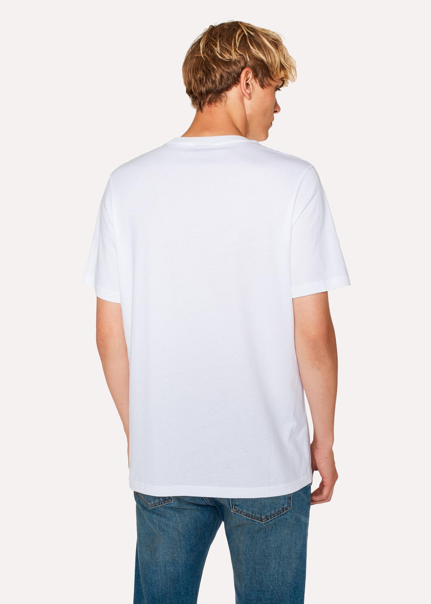 Tee Photographique Shirt En Homme Blanc Imprimé Coton Bio 'ufo' 4ARLq3j5