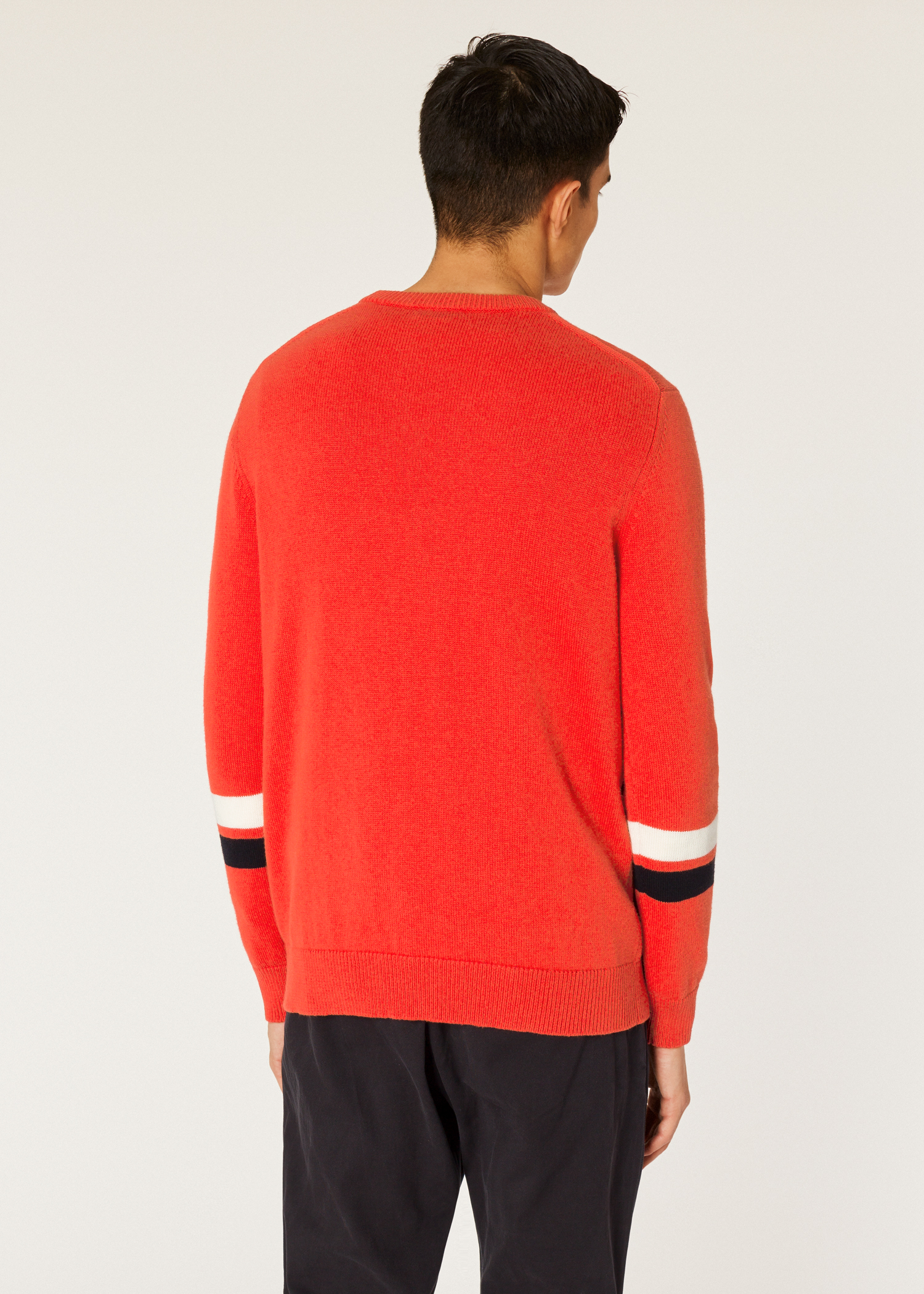 7f3d24e77 Men s Red Cotton and Wool-Blend  Urban Fox  Intarsia Sweater - Paul ...