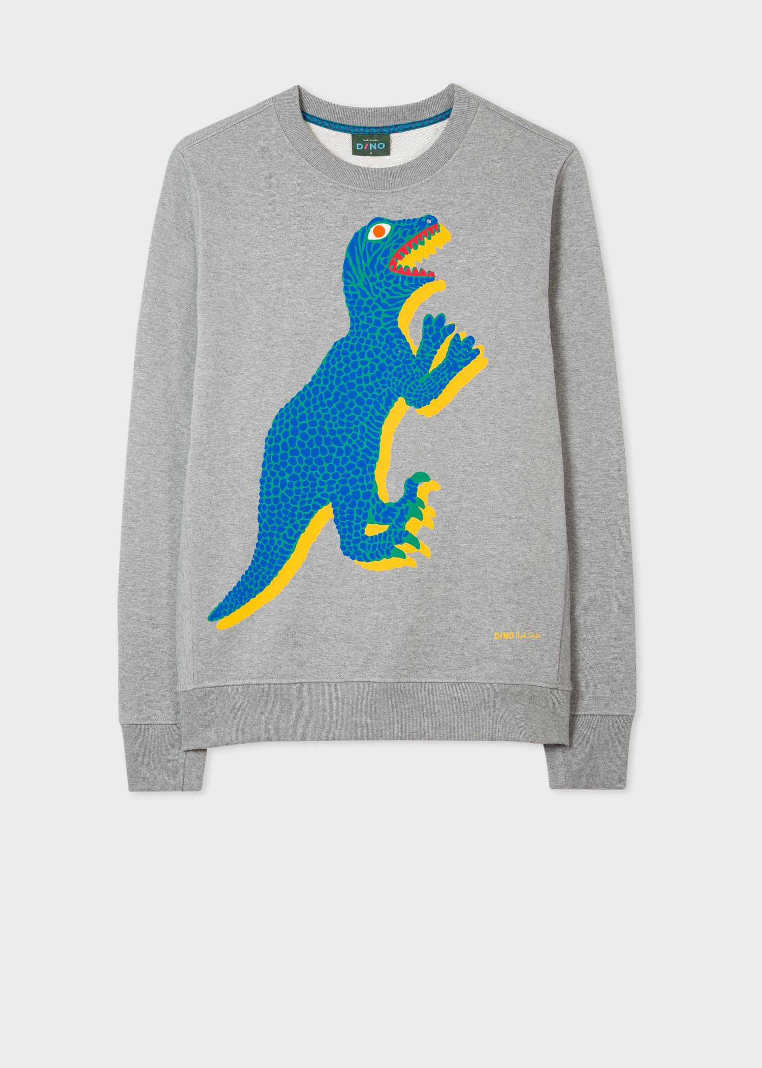 a0293760f2c00 Front View - Men s Grey Organic-Cotton Large Dino Sweatshirt Paul Smith