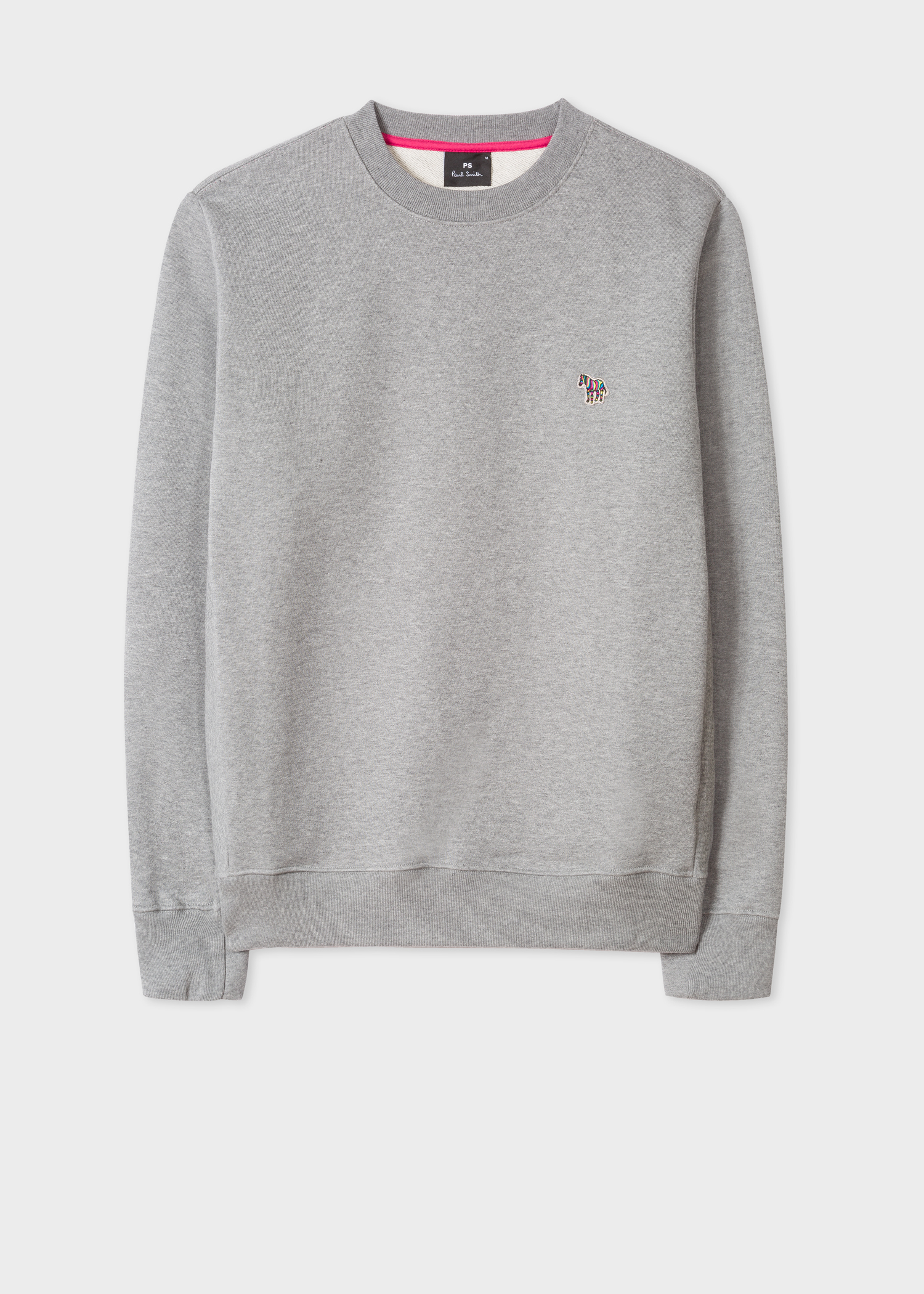 Sweatshirt Smith Cotton Logo Marl Grey Zebra Paul Organic Men's xSqCtYpwx